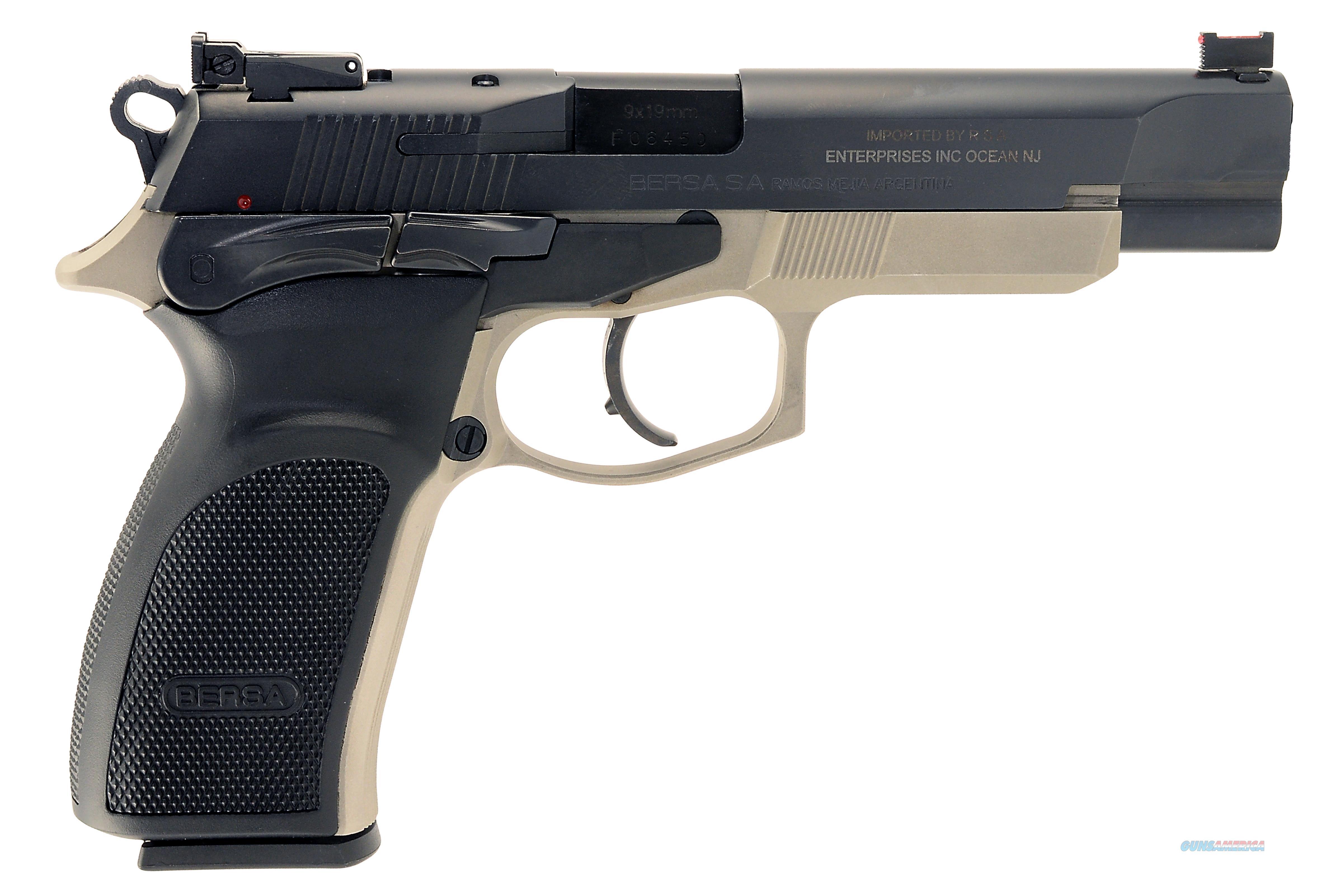 "Bersa T9pxt Thunder Pro Xt Single/Double 9Mm Luger 4.96"" 17+1 Black Polymer Grip Black Aluminum Alloy T9PXT  Guns > Pistols > B Misc Pistols"