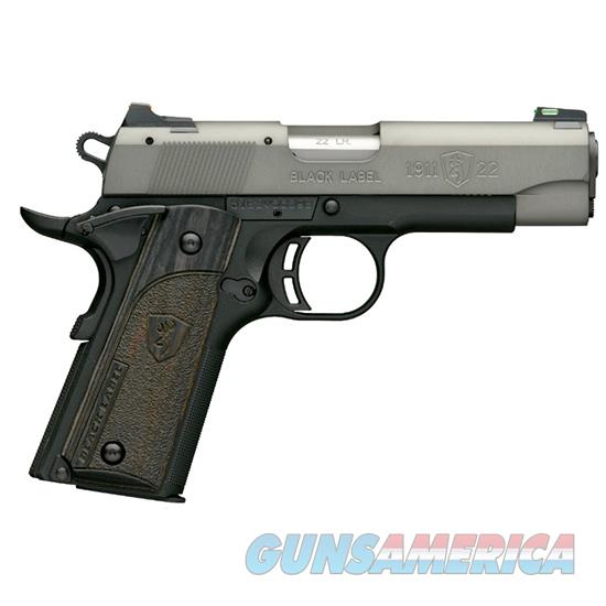 Browning 1911-22 Blk Label Cp 22Lr 3 5/8 Gry Fos 10Rd 051849490  Guns > Pistols > B Misc Pistols