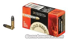 Federal Premium Gold Medal Target Ammunition 22 Long Rifle High Velocity 40 Grain Lead Round Nose Box of 500rd   Non-Guns > Ammunition