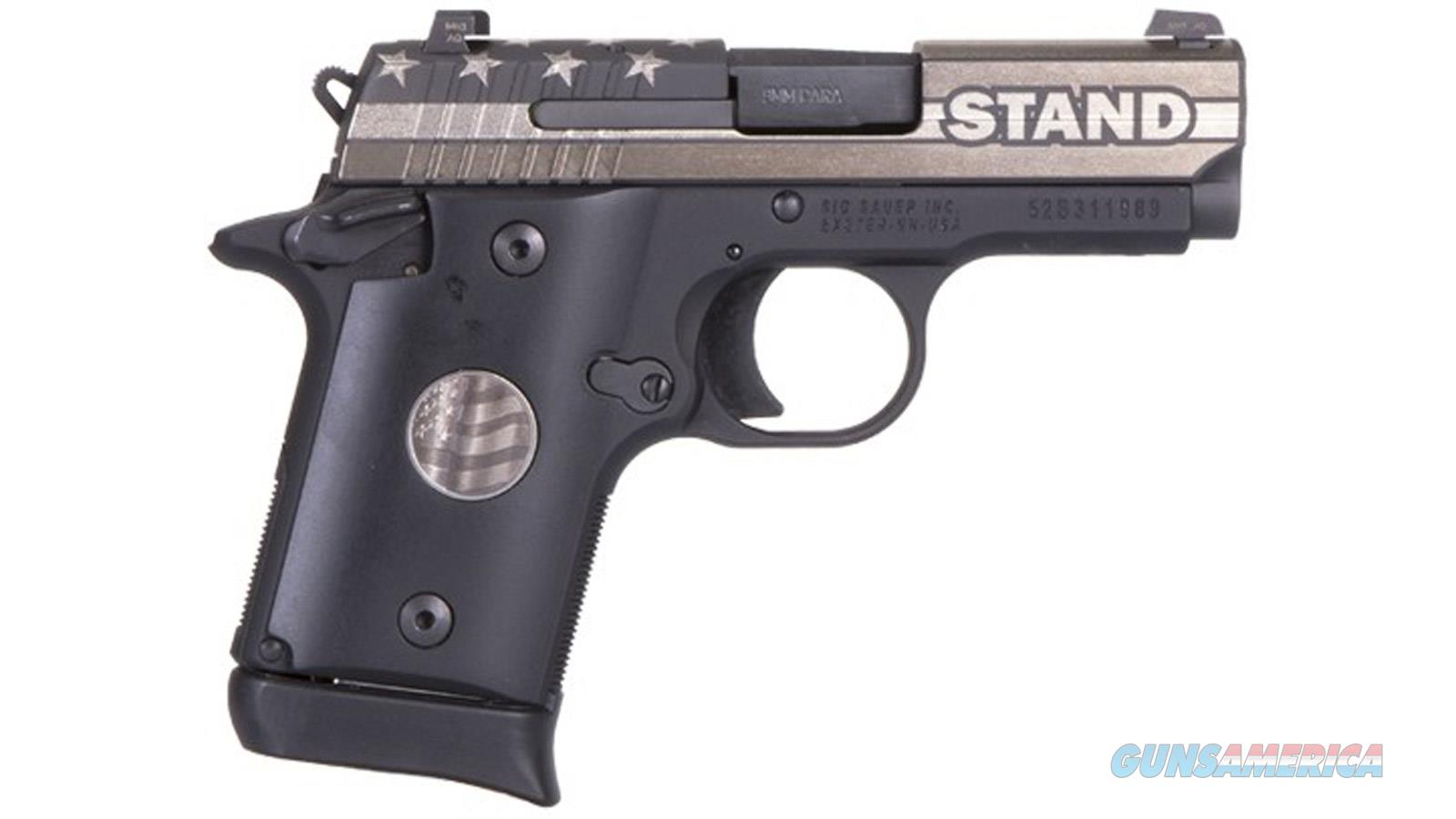 "Sig Sauer P938 Stand 9Mm 3"" 6/7Rd Sao 938-9-STAND-AMBI  Guns > Pistols > S Misc Pistols"