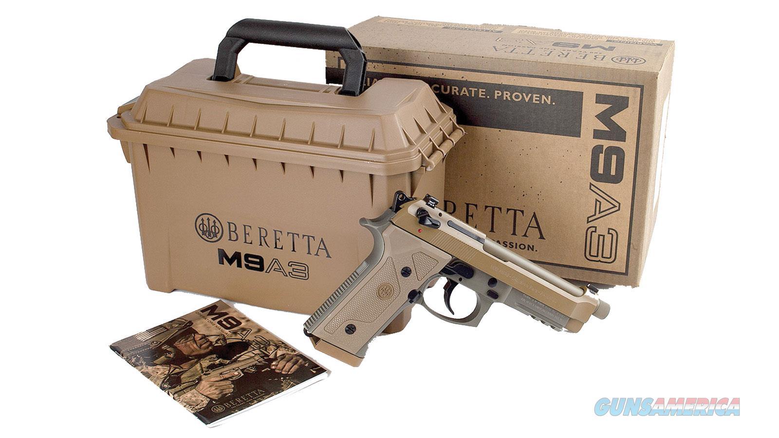 "Beretta M9a3 9Mm 4.9"" 17Rd JS92M9A3M  Guns > Pistols > B Misc Pistols"