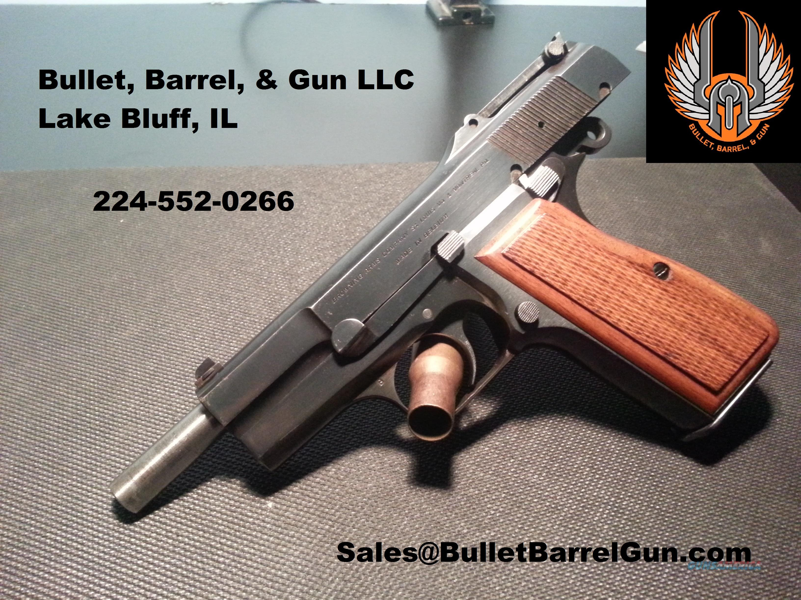 Browning Hi Power Tangent sight T serial number  Guns > Pistols > Browning Pistols > Hi Power