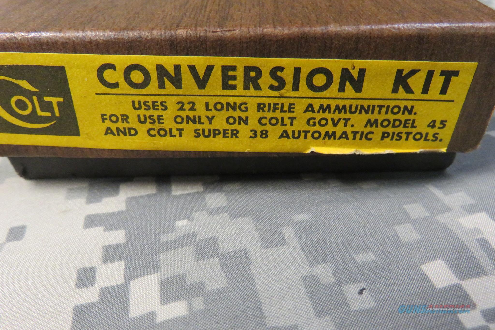 VINTAGE COLT 22LR CONVERSION UNIT FOR GOVT 1911 PISTOLS  Non-Guns > Gun Parts > By Manufacturer > Colt