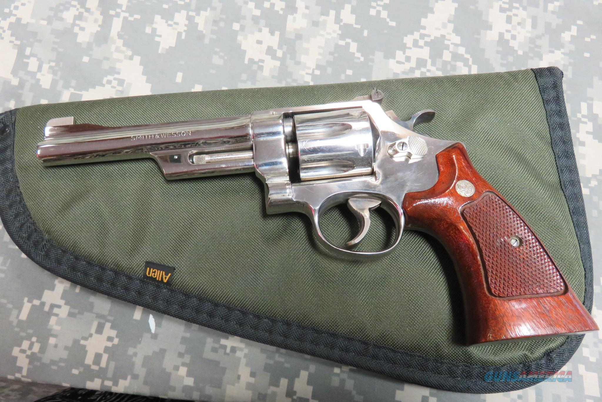 "SMITH & WESSON MODEL 27-2 357 MAGNUM 6"" NICKEL MFG IN 1976-77  Guns > Pistols > Smith & Wesson Revolvers > Full Frame Revolver"