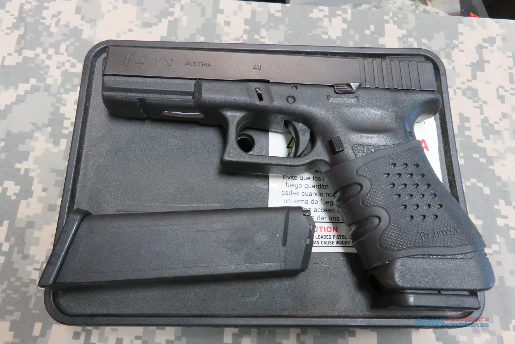GLOCK 22C G3 40CAL WITH TRUGLO FIBER OPTIC NIGHT SIGHTS AND MORE  Guns > Pistols > Glock Pistols > 22