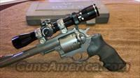 Ruger Super Redhawk Revolver. It is a .454 Casull and .45 Colt caliber.   Ruger Double Action Revolver > Redhawk Type