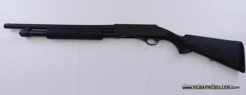 "H&R 1871 Pardner Pump Protector 12Ga 18.5"" Barrel Home Defense Shotgun Black  Guns > Shotguns > Harrington & Richardson Shotguns"