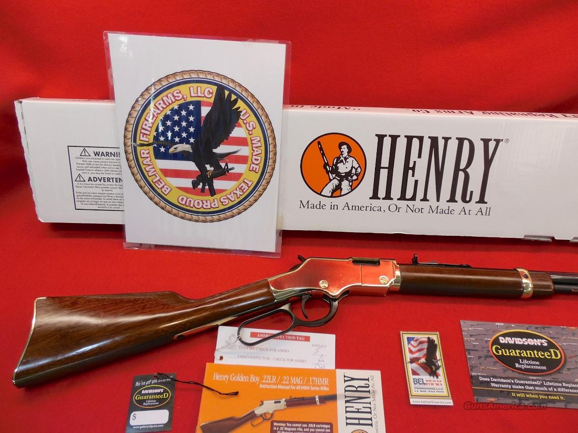 "Henry Golden Boy 22 LR 16"" Barrel Model # H004Y  Guns > Rifles > Henry Rifle Company"