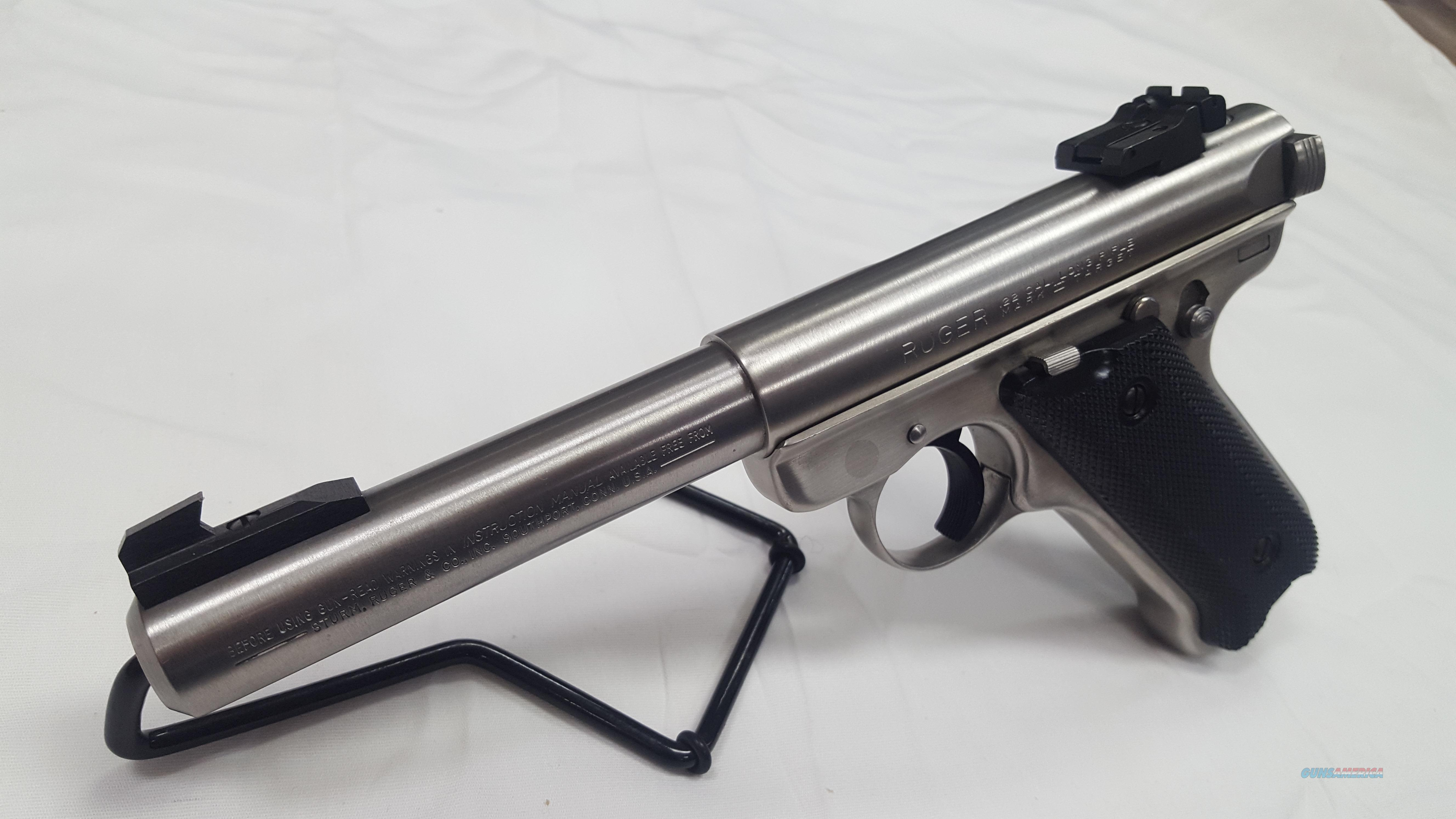 "Ruger MK II Target Stainless 5.5"" .22LR  Guns > Pistols > Ruger Semi-Auto Pistols > Mark I/II/III/IV Family"