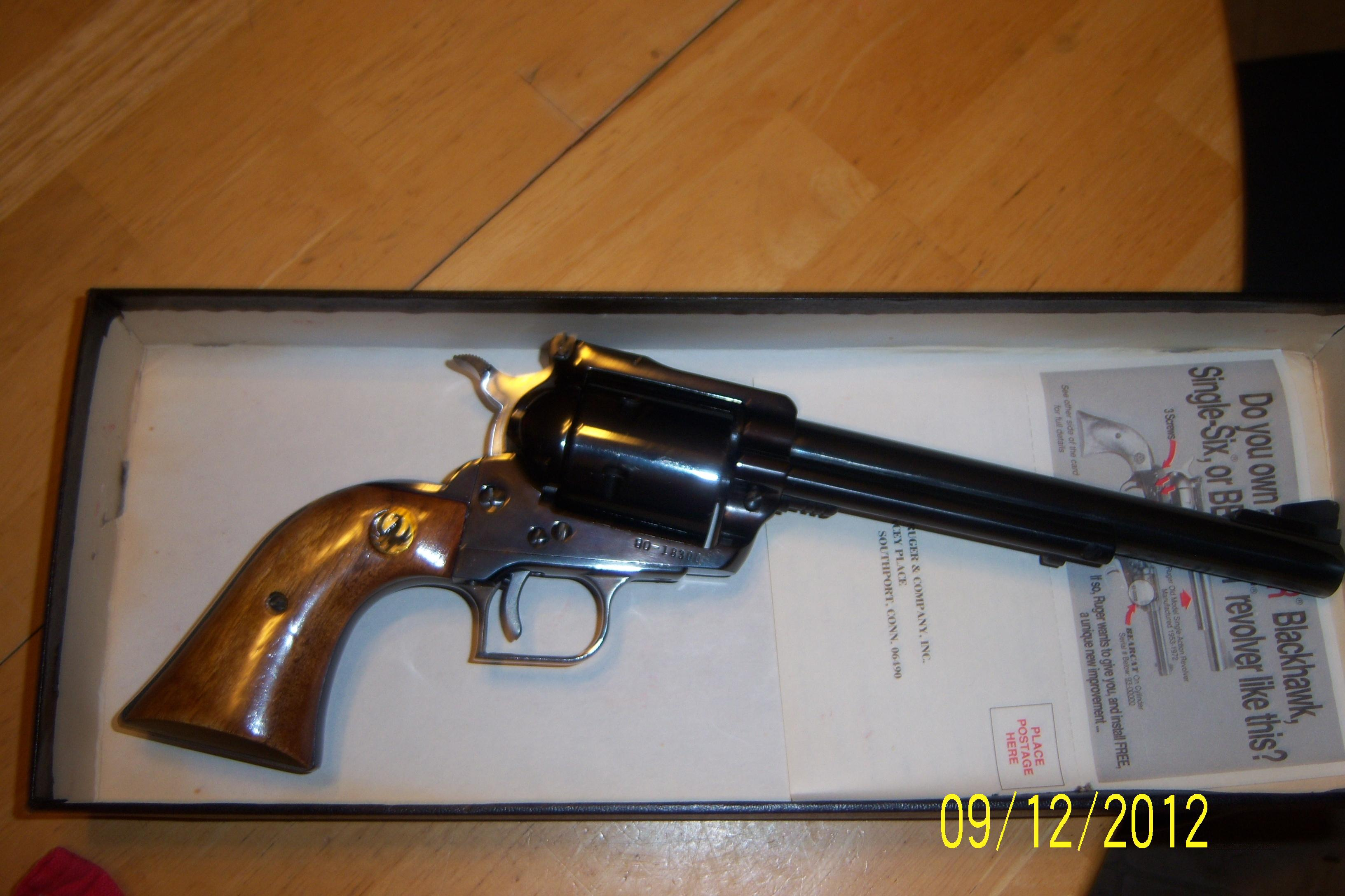 Ruger Super Blackhawk, Old Model, 44 Magnum  Guns > Pistols > Ruger Single Action Revolvers > Blackhawk Type