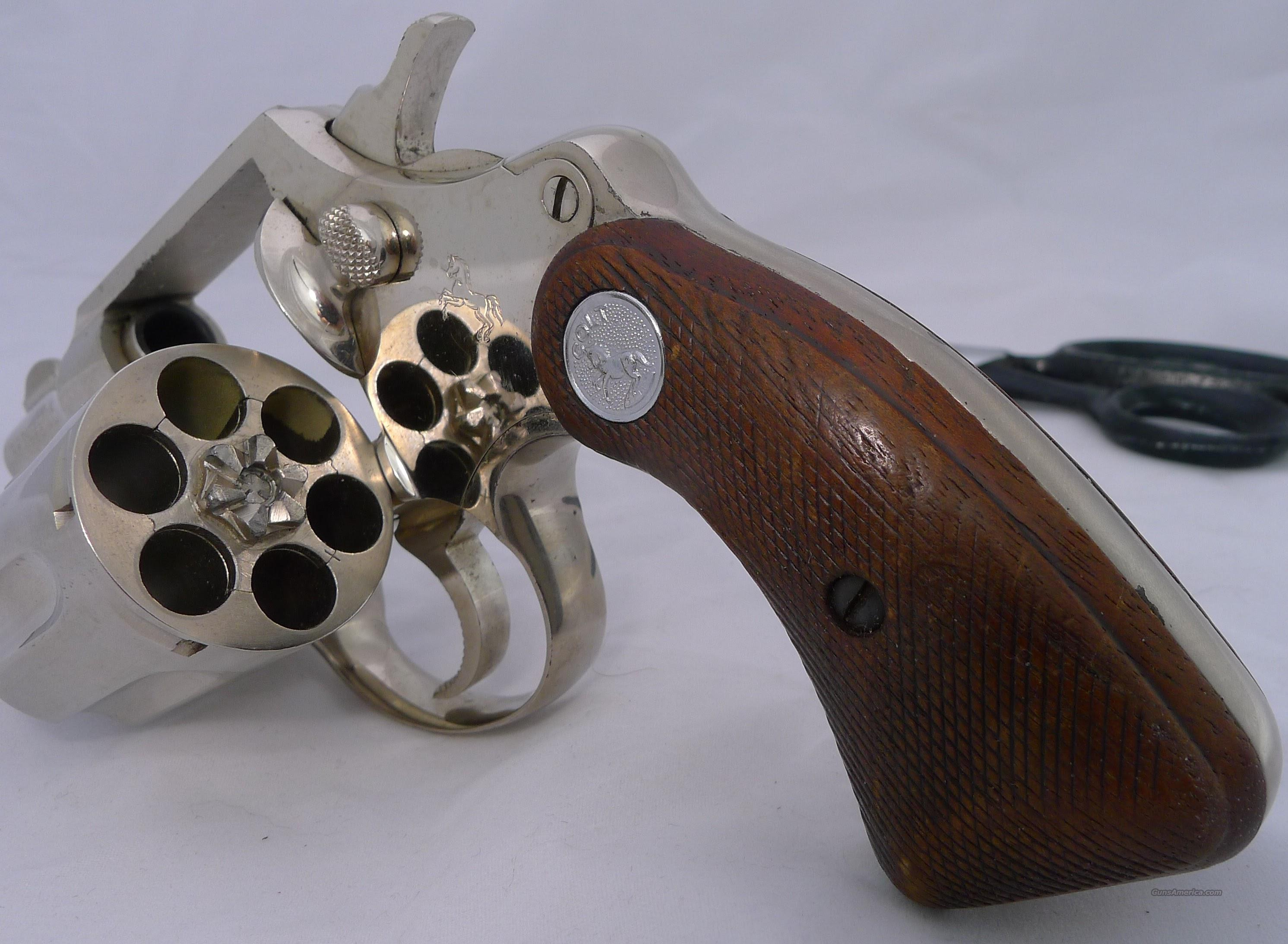 Colt Detective Special, 38, 2-inch, Nickel  Guns > Pistols > Colt Double Action Revolvers- Pre-1945
