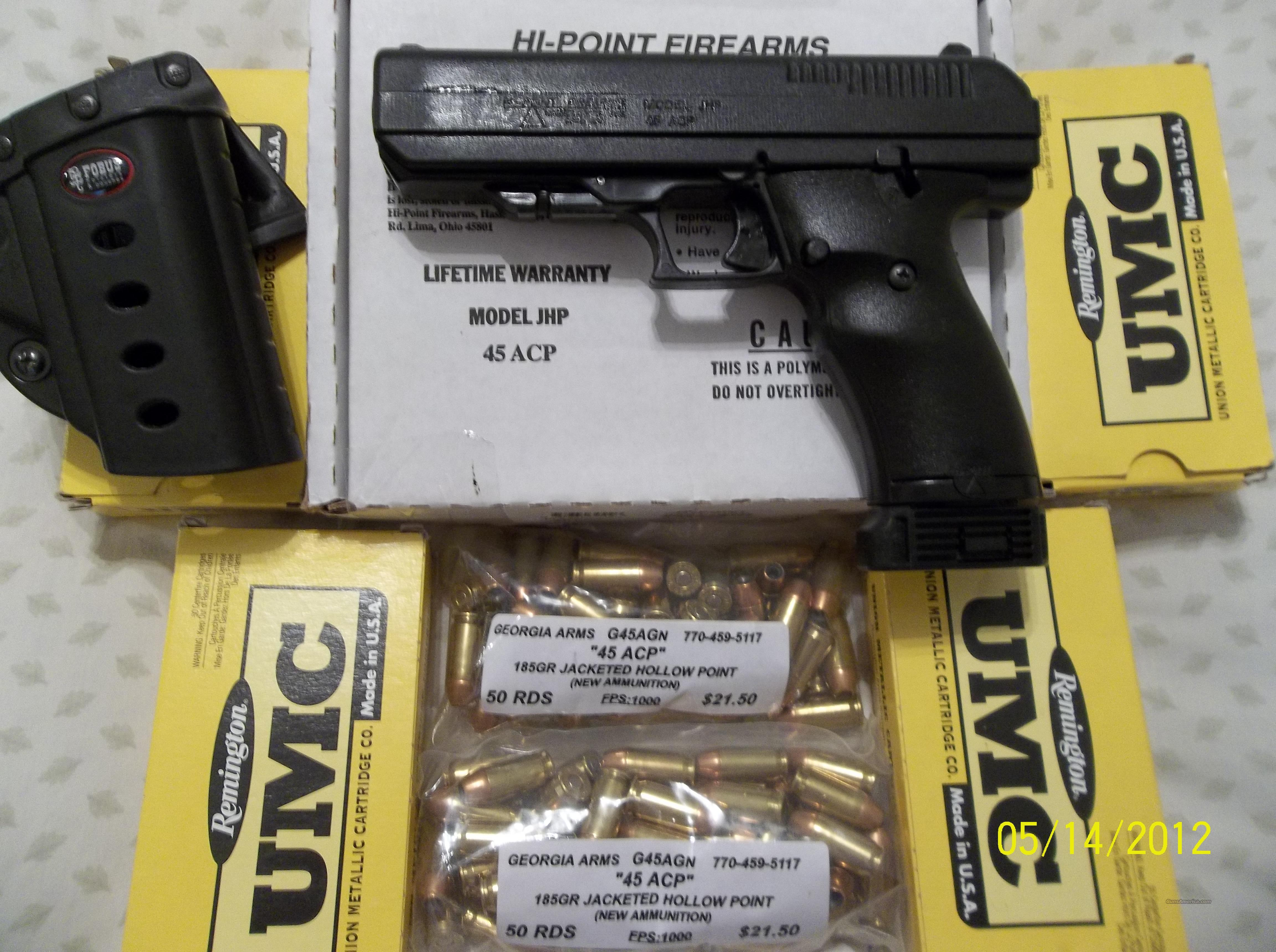 HIGH POINT JHP 45 ACP  Guns > Pistols > Hi Point Pistols