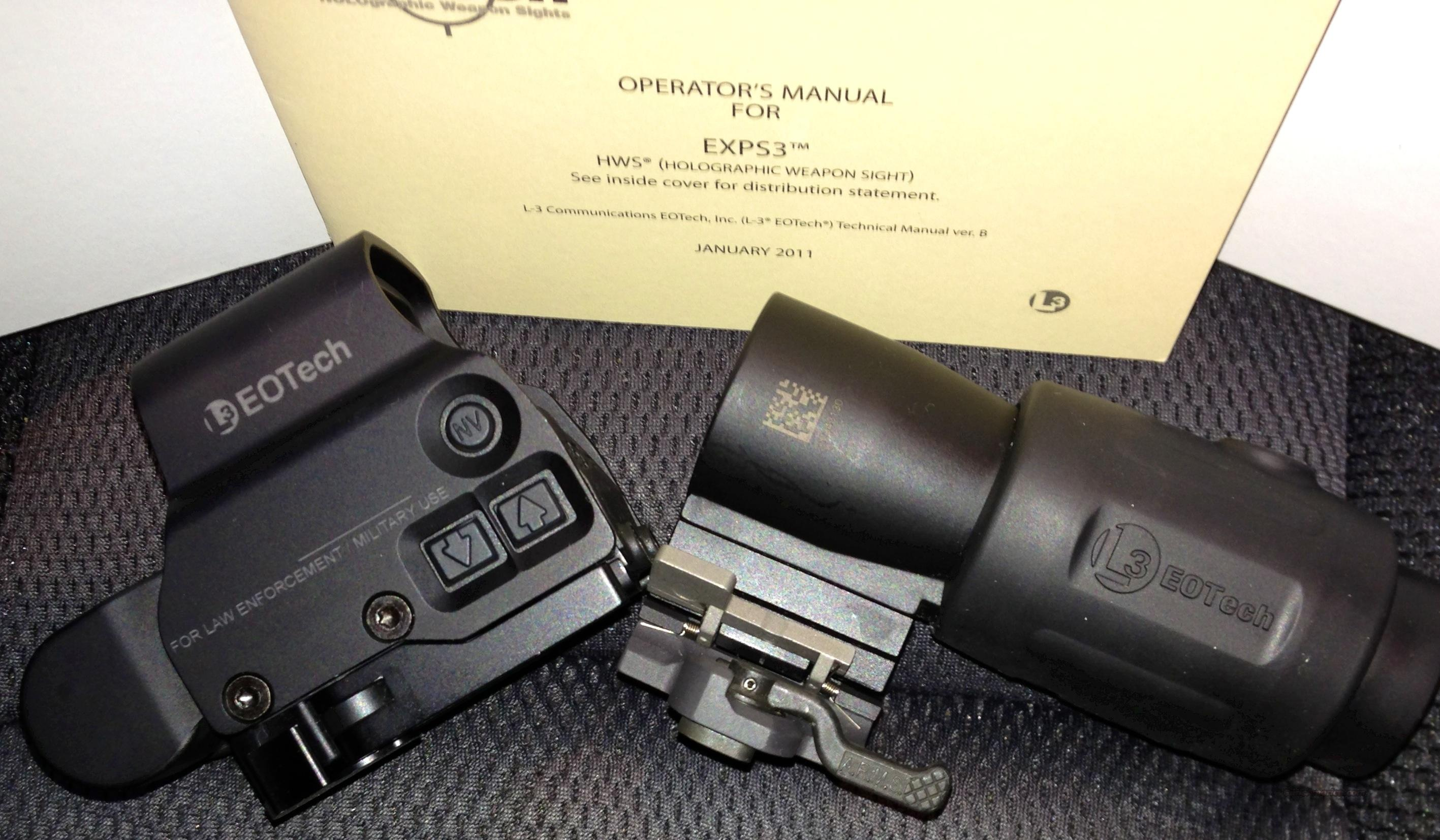 Eotech w magnifier (set only)  Non-Guns > Scopes/Mounts/Rings & Optics > Tactical Scopes > Optic/Light Combos