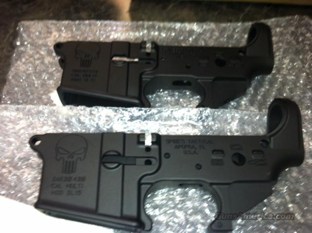 TWO Spikes Tactical Consecutive serial number pair of Punisher Stripped lower receivers  Guns > Rifles > AR-15 Rifles - Small Manufacturers > Lower Only
