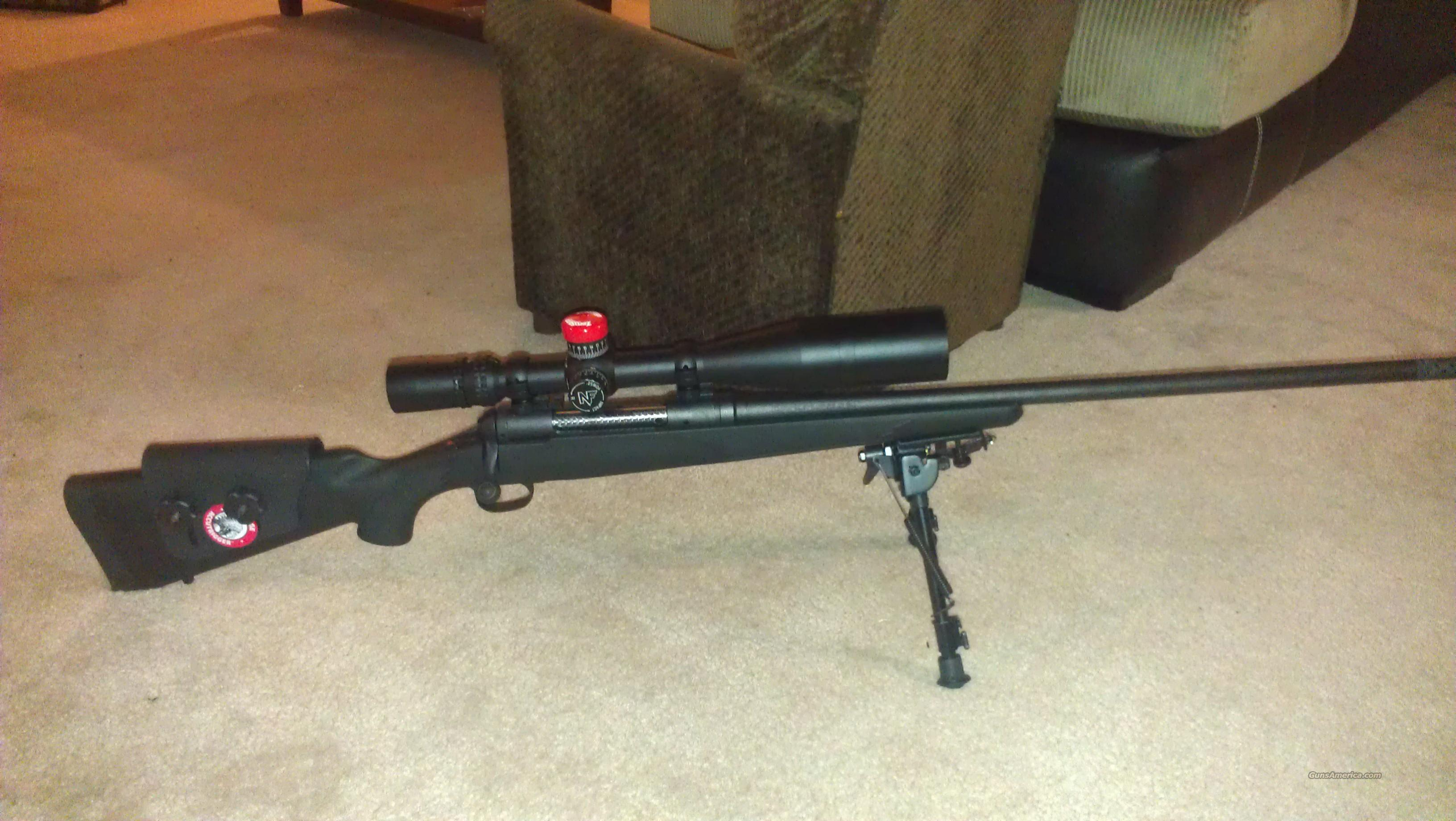 Savage 111 Long Range Hunter Bolt Action Rifle 18898, 7mm Remington Magnum, 26 in, Black Syn AccuStock Stock, Matte Black Finish (SCOPE NOT INCLUDED)  Guns > Rifles > Savage Rifles > Accutrigger Models > Tactical