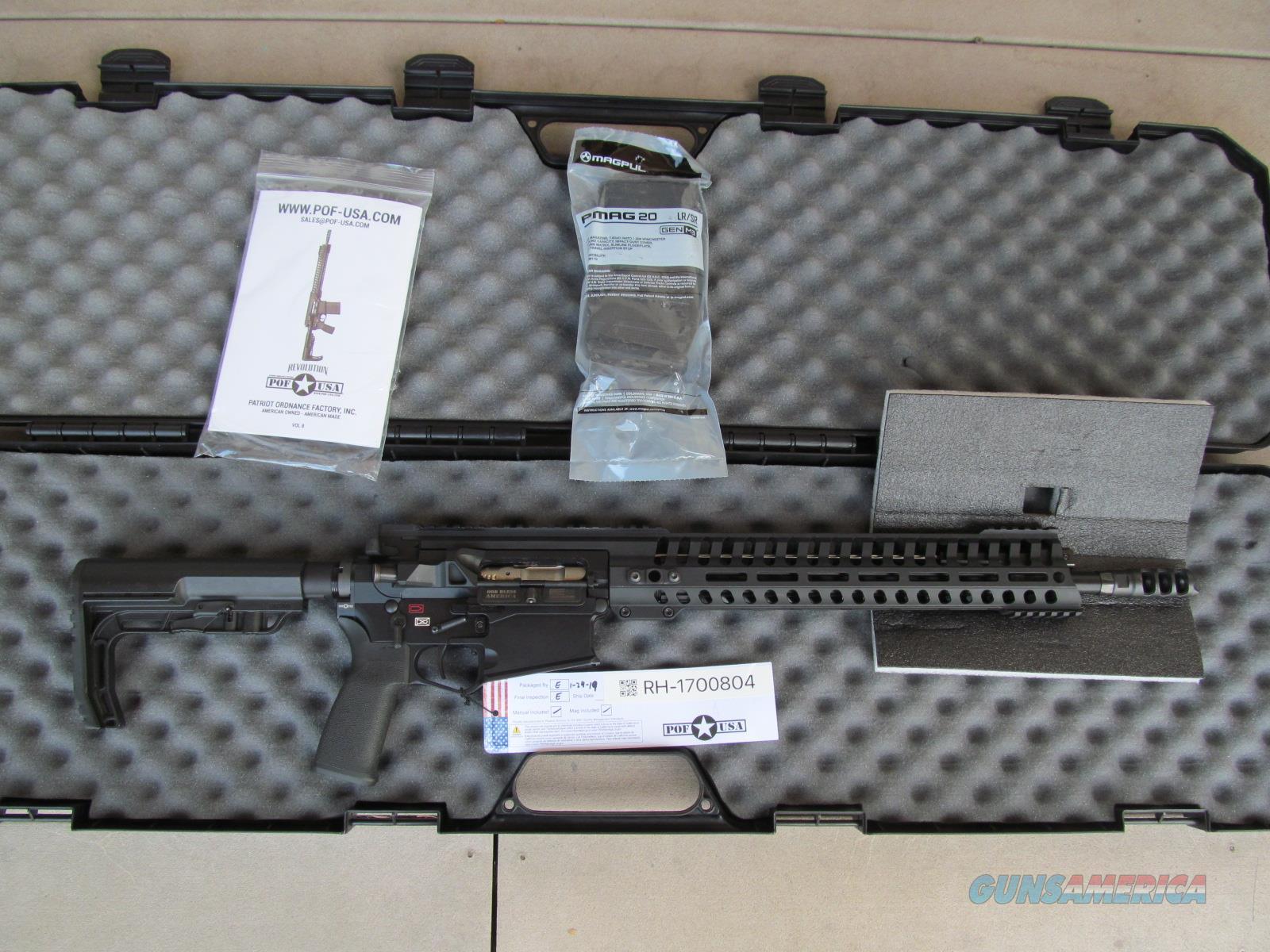 "POF Revolution Gen 4 308 Rifle 16.5"" (AR, AR15, COLT, BUSHMASTER, DPMS, ROCK, ARMALITE, S&W, DANIEL, STAG, LMT, LWRC, SIG, RUGER, PWS, HK, BARRETT, TRIJICON, EOTECH, NOVESKE, MAGPUL, TROY)  Guns > Rifles > Patriot Ordnance Factory - POF USA > Complete Rifles"