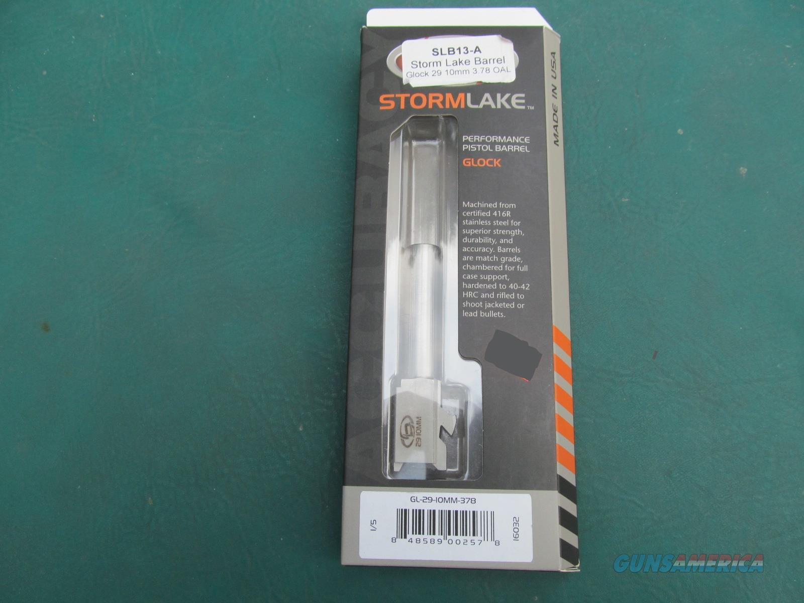 Glock 29 / 29SF Storm Lake 10mm Match-Grade Stainless Steel Barrel (BNIB)  Non-Guns > Barrels