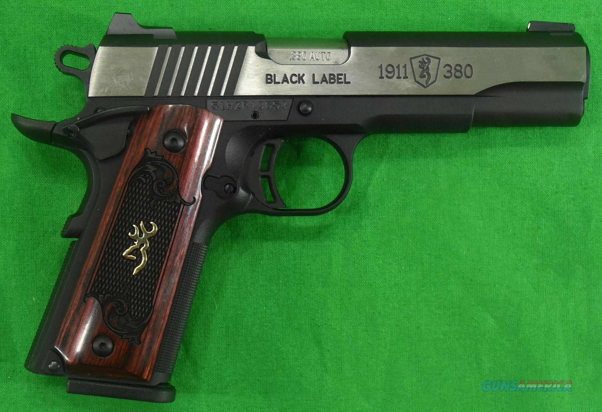 1911 Black Label Med 380ACP 4.2In  051912492  Guns > Pistols > Browning Pistols > Other Autos
