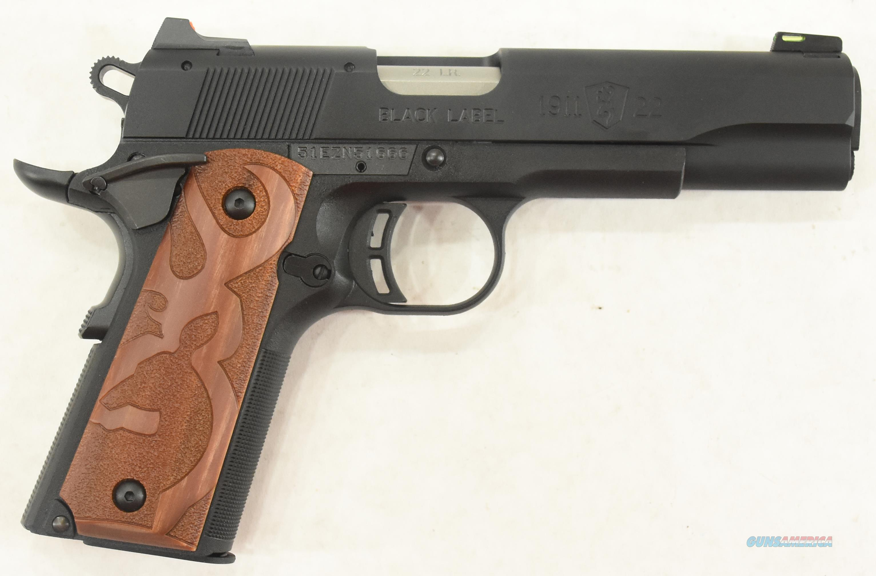 1911-22 Blk Label Brown Logo 22LR 4.25In  051871490  Guns > Pistols > Browning Pistols > Other Autos