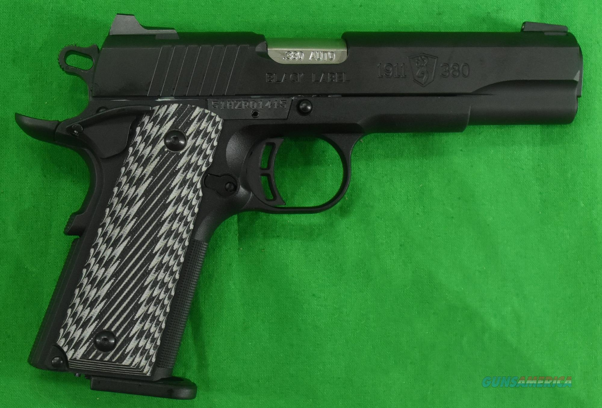1911 Black Label G10 Nite 380ACP 4.2In  051906492  Guns > Pistols > Browning Pistols > Other Autos