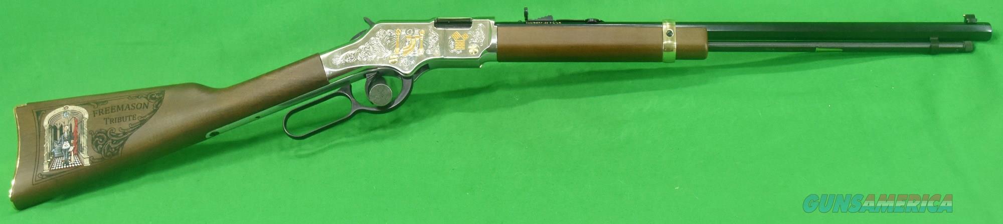 Golden Boy Freemasons Edit 22Lr 20In  H004MAS  Guns > Rifles > Henry Rifles - Replica