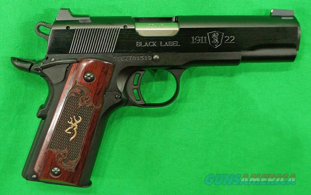 Browning 1911 Black Label Medallion 22 LR 4.2In 051851490  Guns > Pistols > Browning Pistols > Other Autos