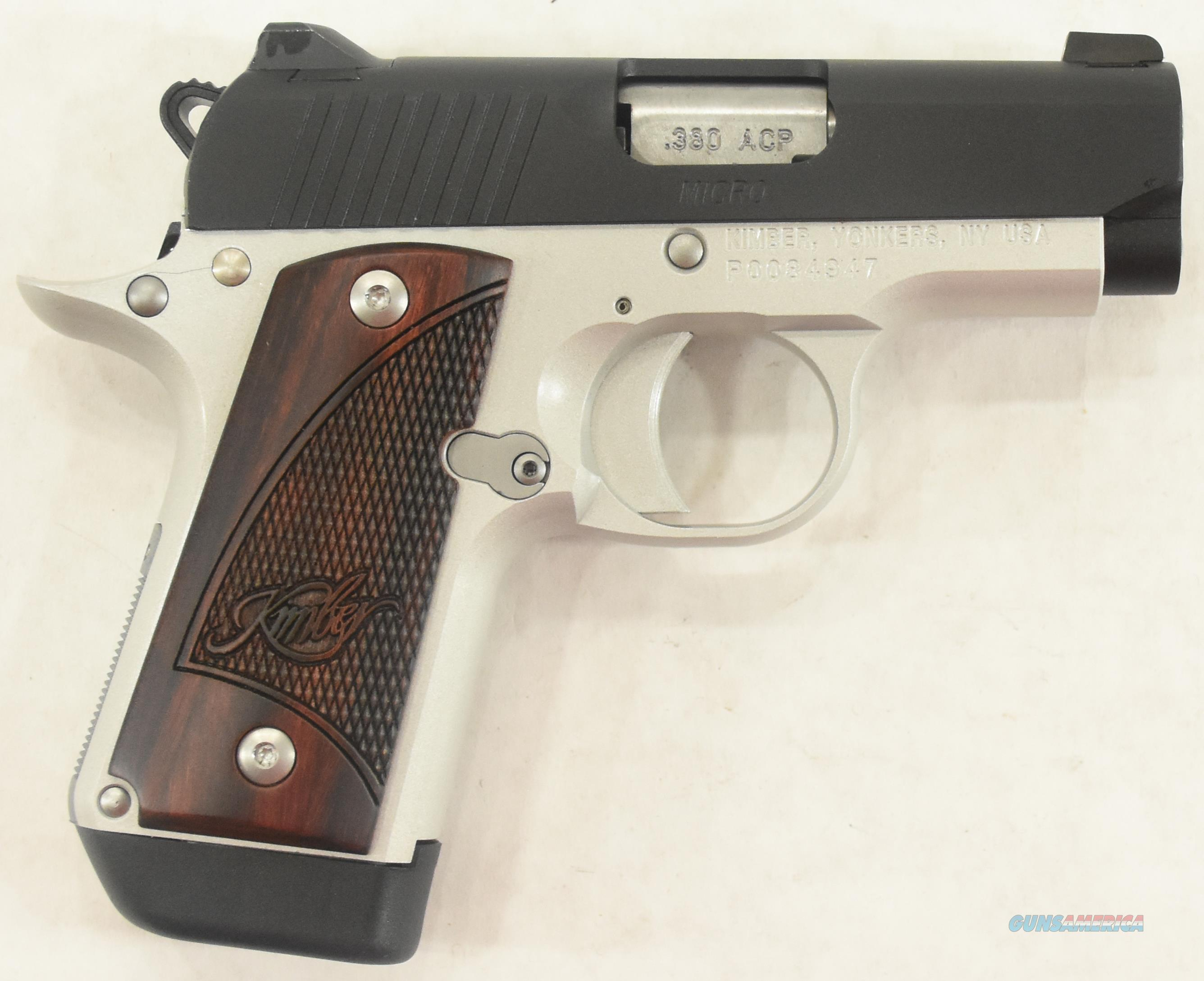 Kimber Two Tone Micro 380 Auto Rosewood 7rd 2.75In  3300102  Guns
