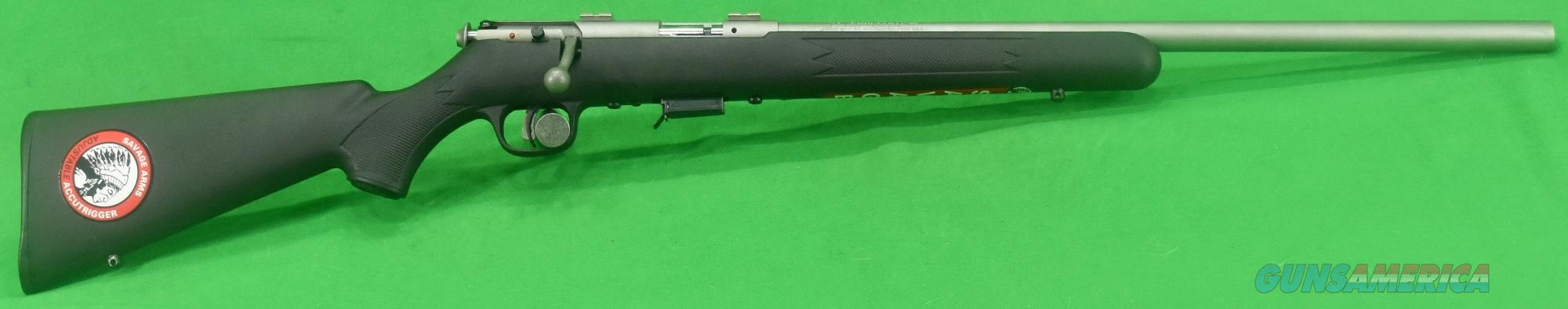 93 FVSS Black Stainless 22WMR 21In  94700  Guns > Rifles > Savage Rifles > Accutrigger Models > Sporting