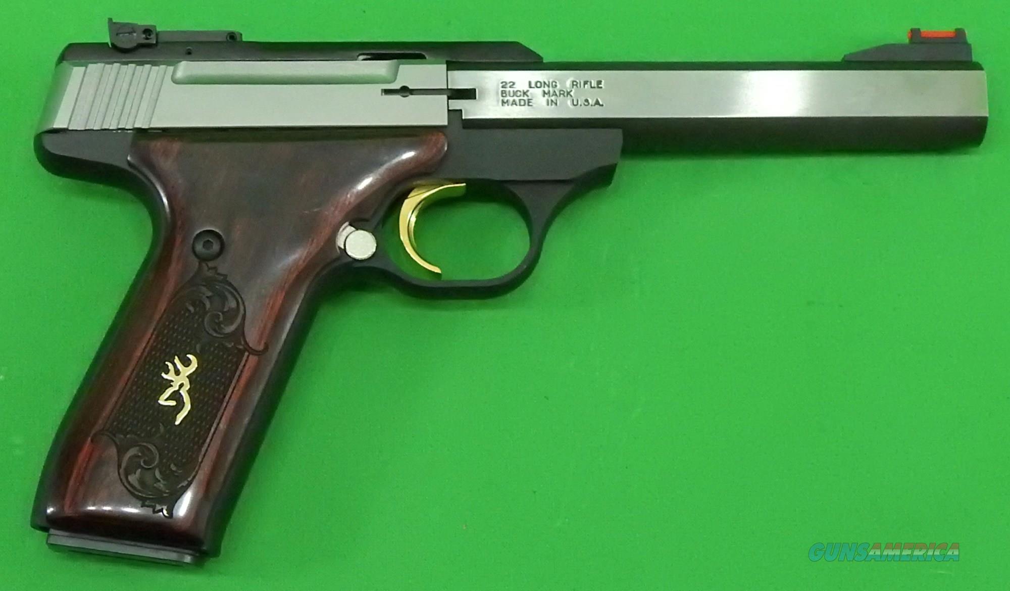 Buck Mark Medallion Rosewood 22LR  051543490  Guns > Pistols > Browning Pistols > Buckmark