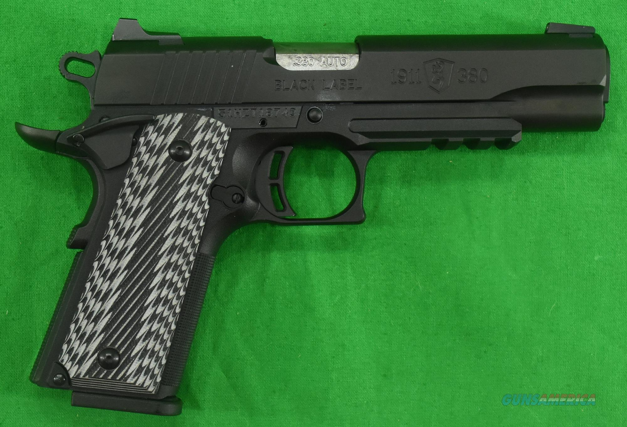 1911 Black Label G10 RL 380ACP 4.2In  051907492  Guns > Pistols > Browning Pistols > Other Autos