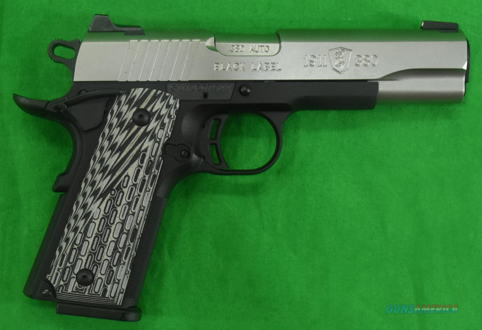 1911 Black Label 380ACP 4.2In - Stainless 051922492  Guns > Pistols > Browning Pistols > Other Autos