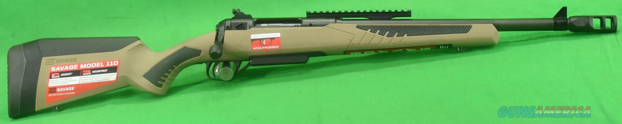 110 Scout FDE 450Bushmaster 16.5In  57139  Guns > Rifles > Savage Rifles > 10/110