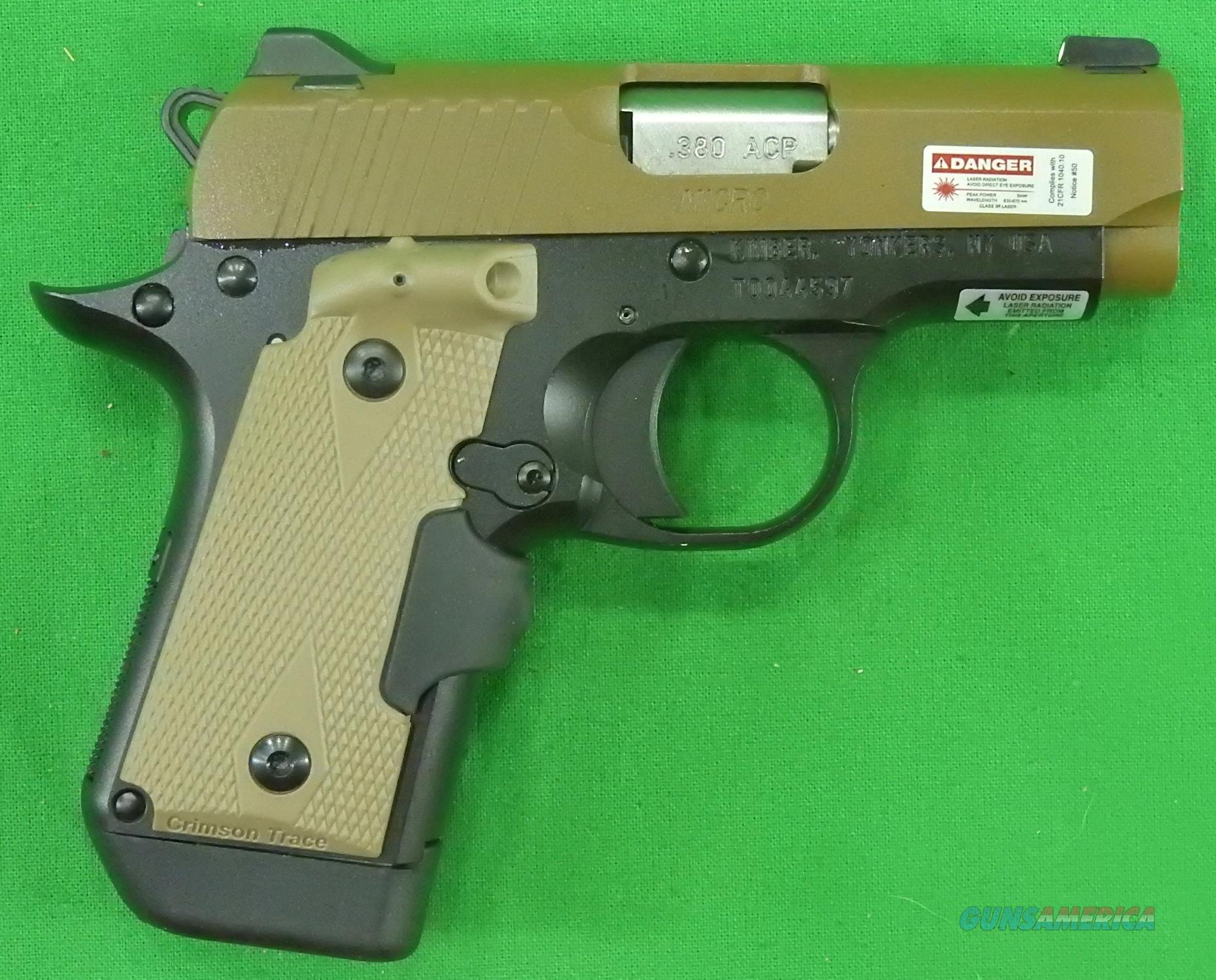 Kimber Desert Tan Micro 380 Auto Laser Grip 2 Mags  3300177  Guns