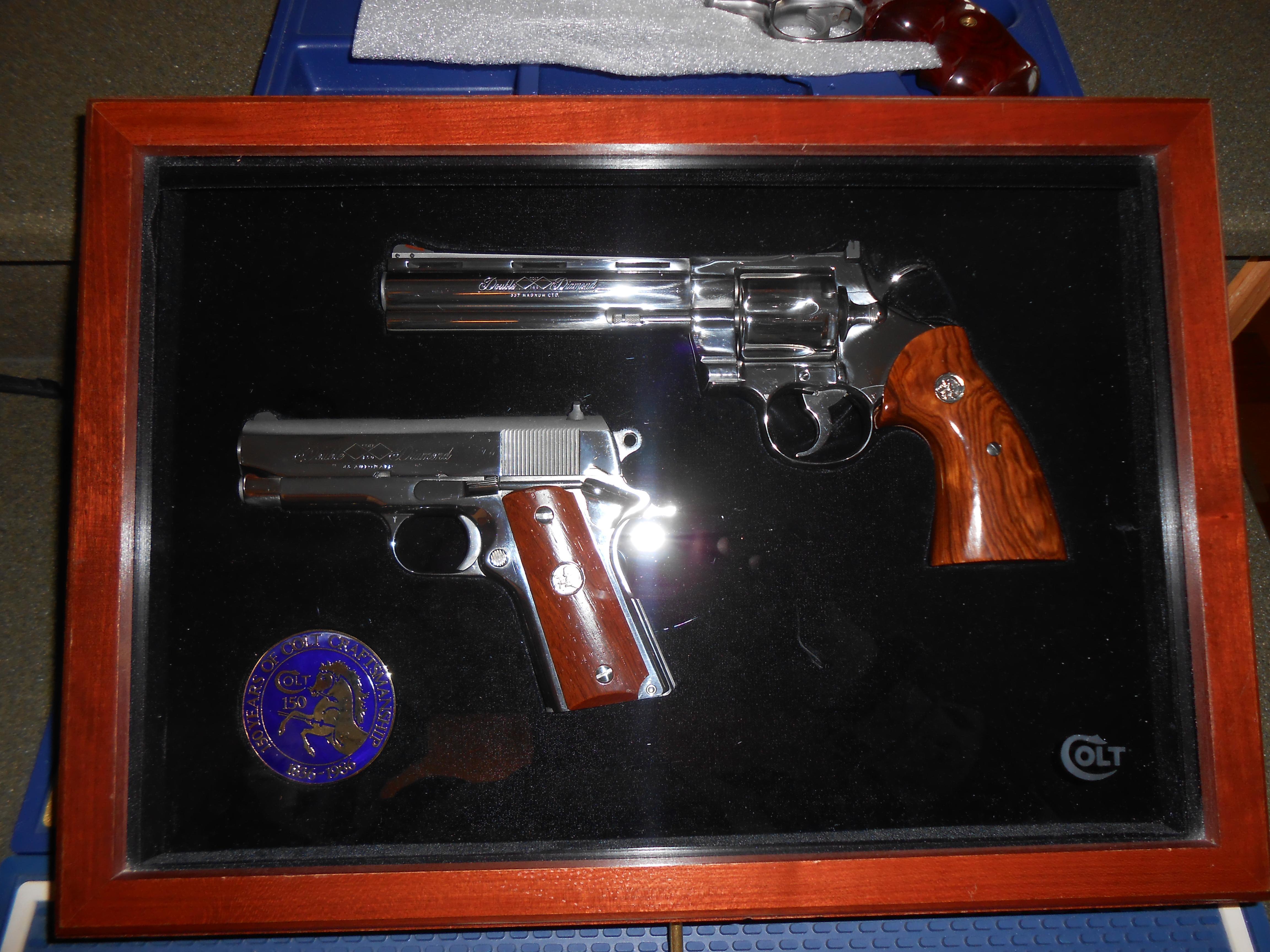 Colt Double Diamond Set Unfired Complete  Guns > Pistols > Colt Double Action Revolvers- Modern