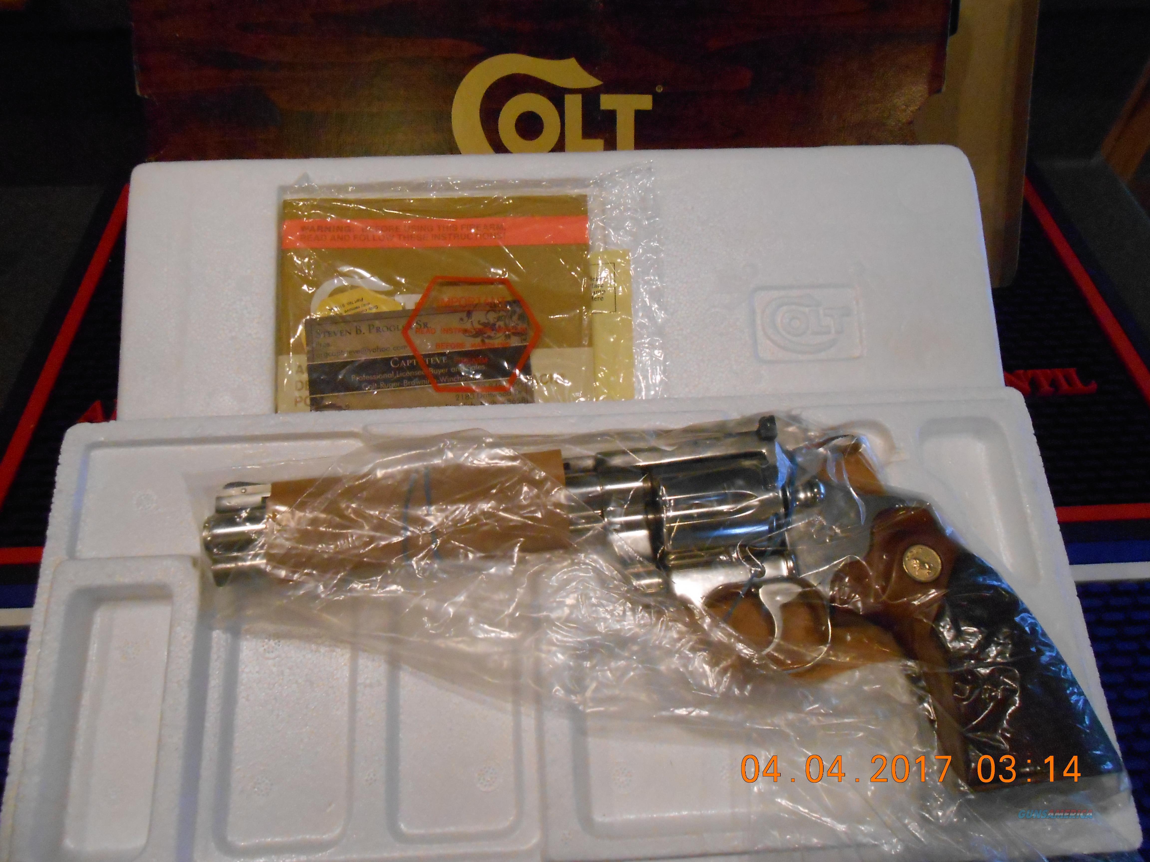 "NOS Colt Nickel Diamondback 6"" 22 LR  Guns > Pistols > Colt Double Action Revolvers- Modern"