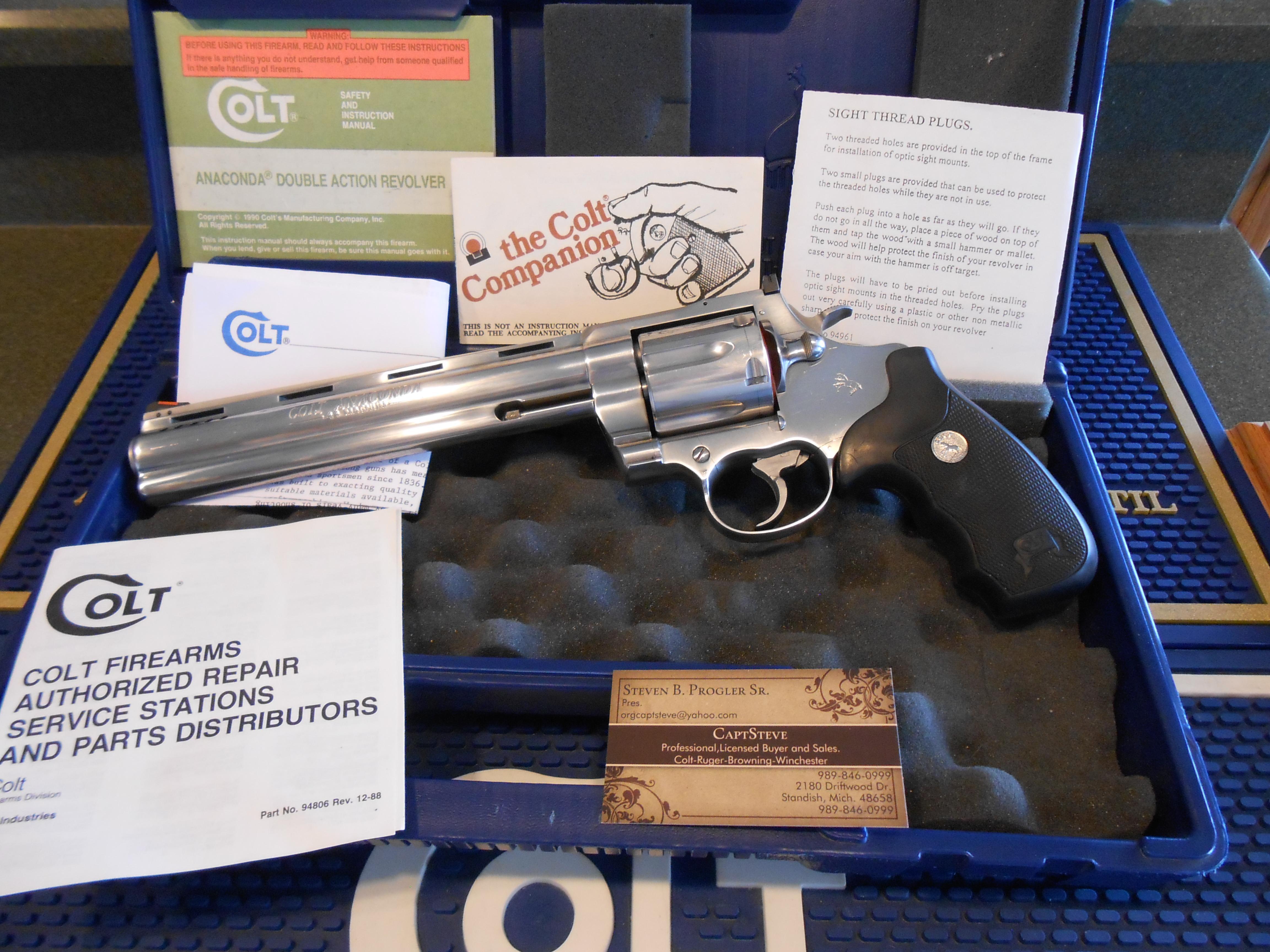 "Colt Anaconda 8"" PDT Complete  Guns > Pistols > Colt Double Action Revolvers- Modern"