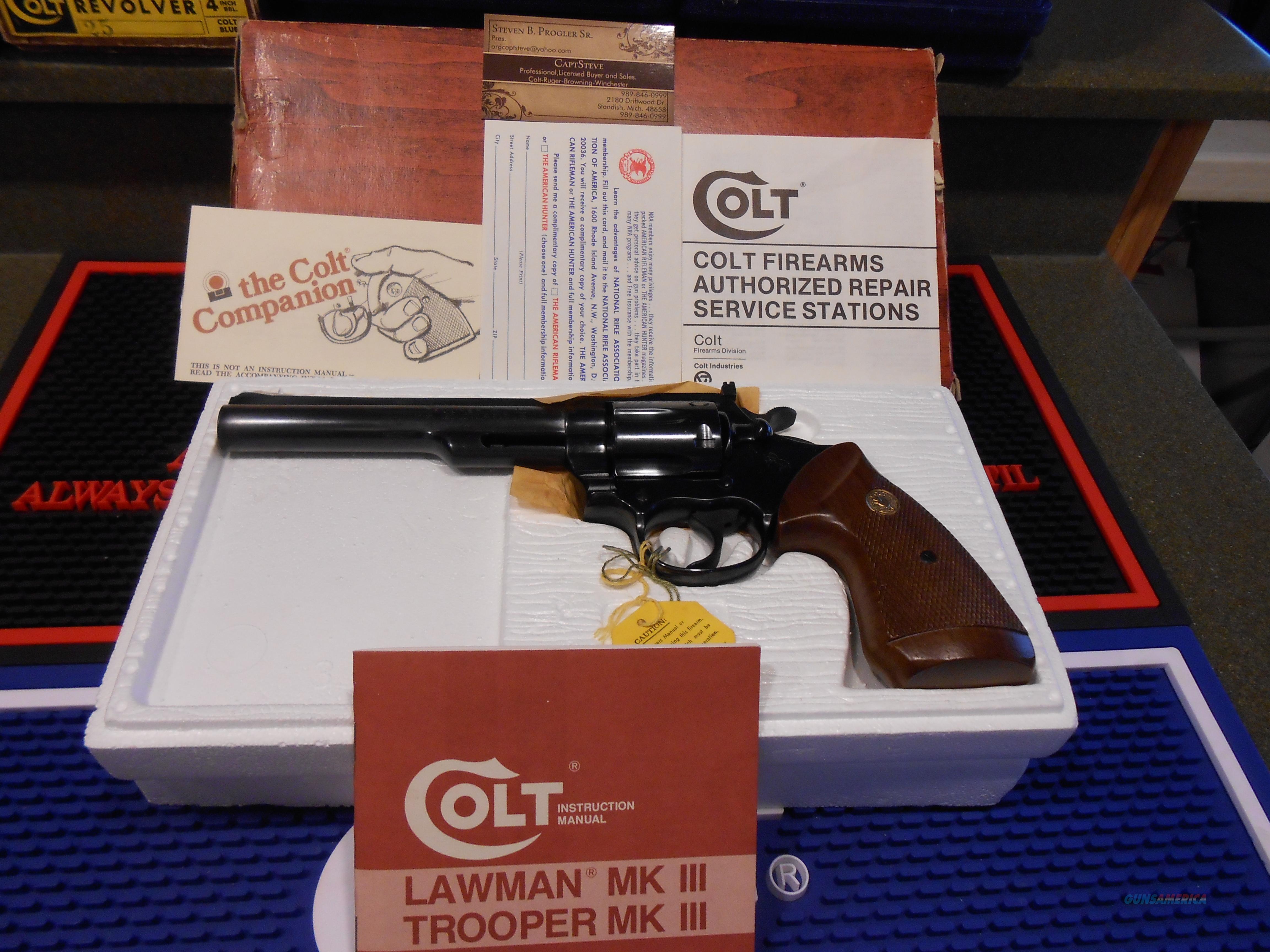 "6""  Colt Trooper 22Lr Complete  Guns > Pistols > Colt Double Action Revolvers- Modern"