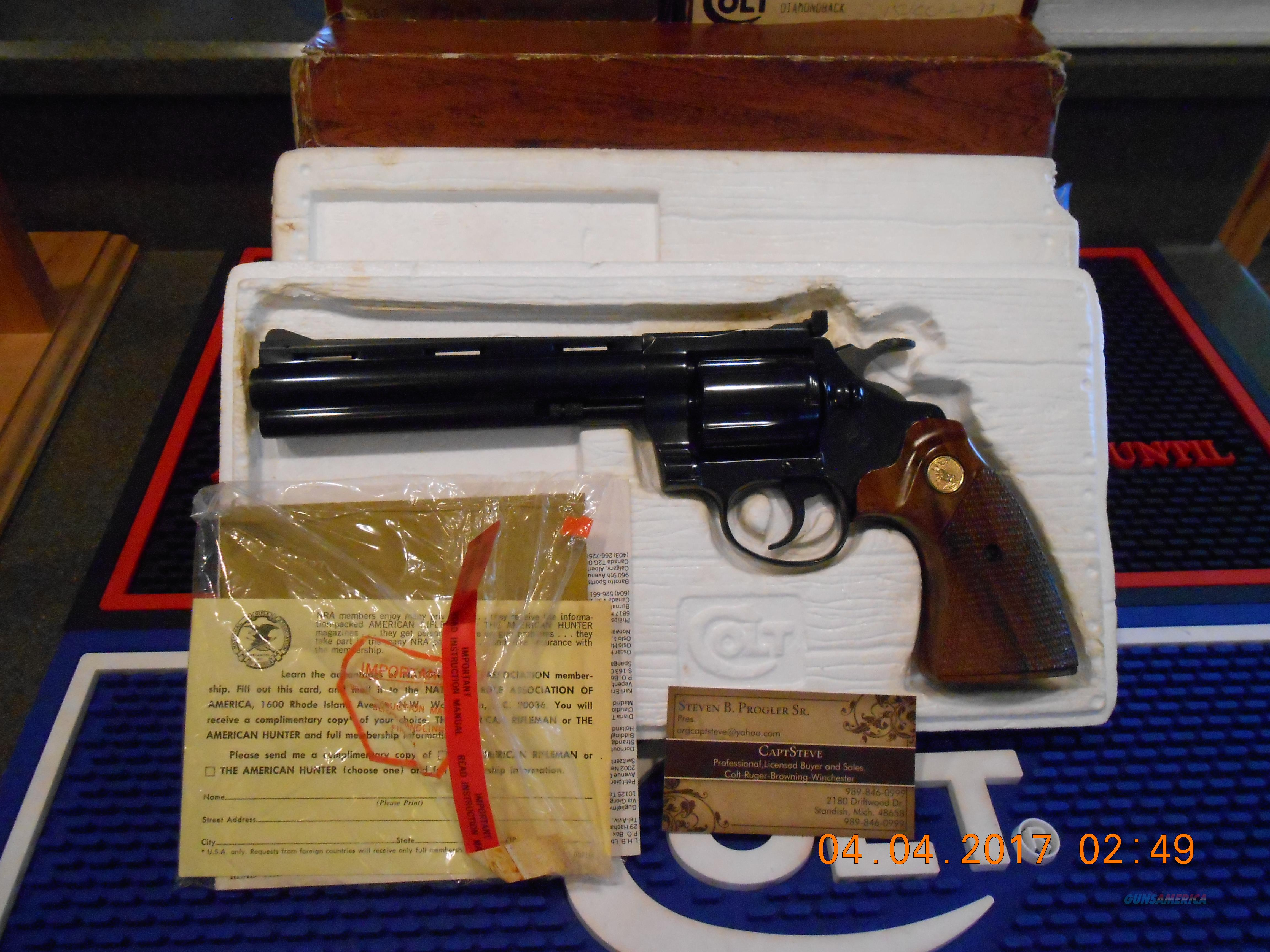 "Colt Diamondback 6"" Blue 38 Special Like New  Guns > Pistols > Colt Double Action Revolvers- Modern"
