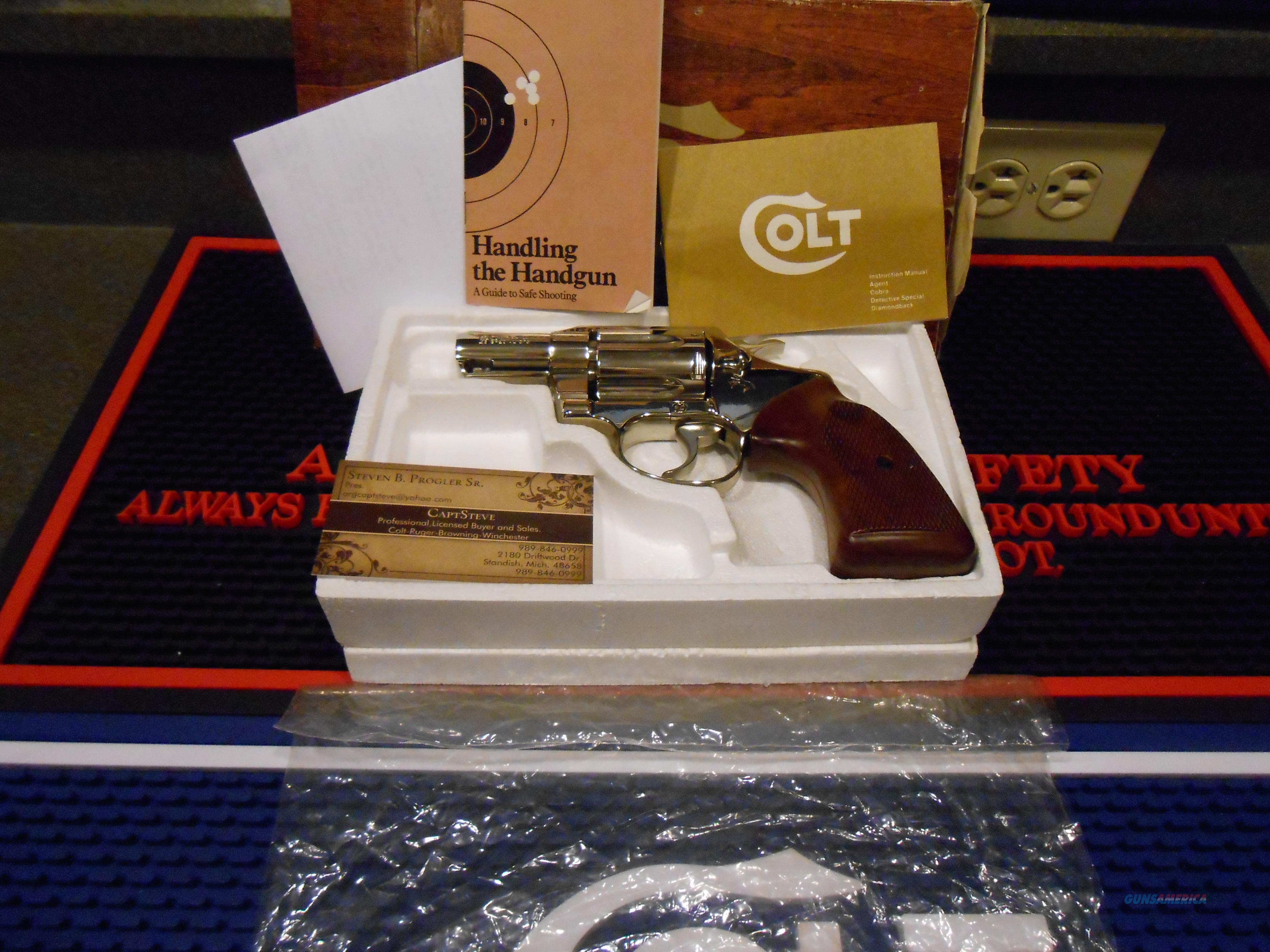 Colt Cobra 2nd Issue  Nickel Unfired Complete  Guns > Pistols > Colt Double Action Revolvers- Modern