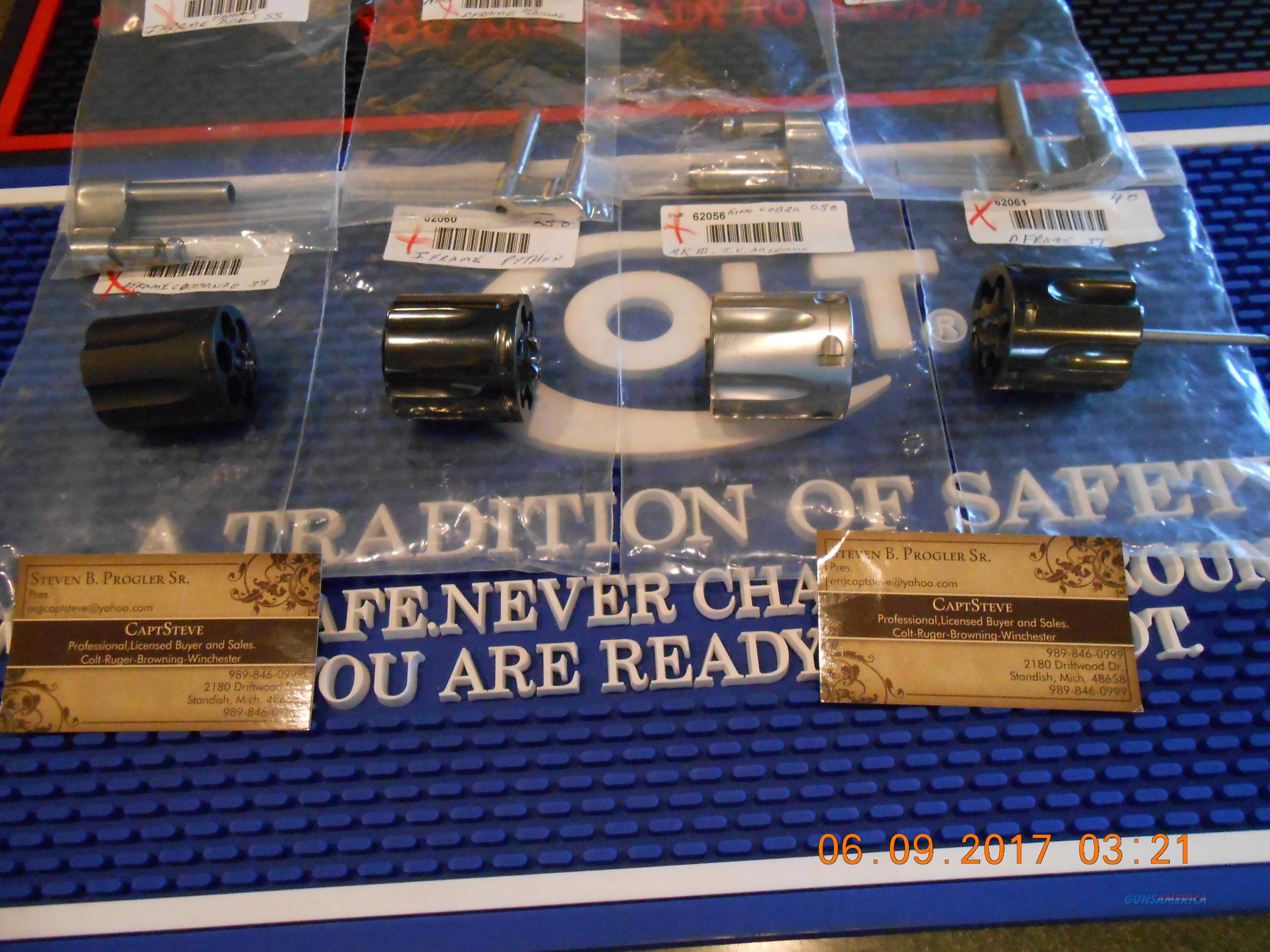 Colt Modern Revolver Parts   Guns > Pistols > Colt Double Action Revolvers- Modern