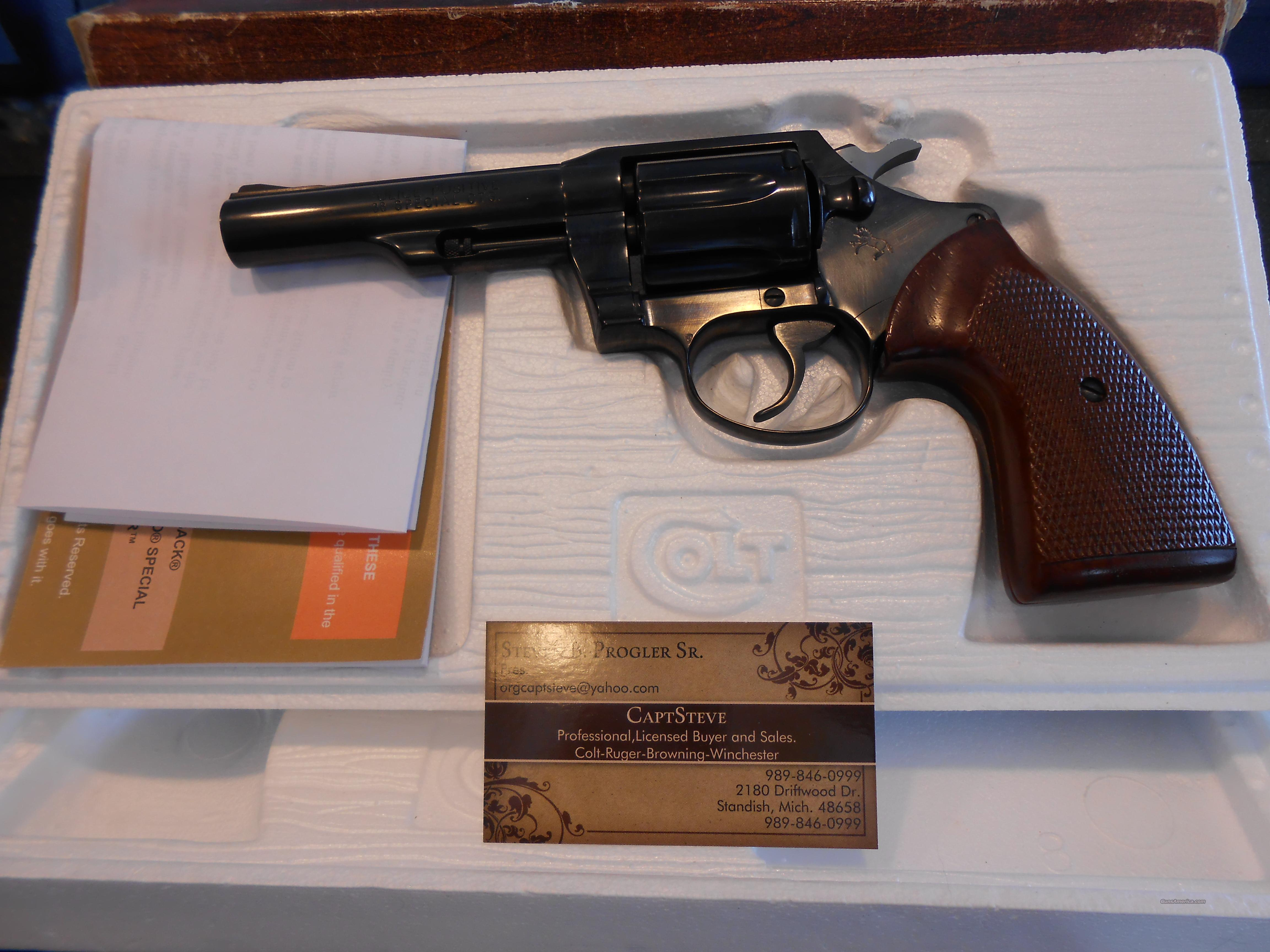 Unfired Colt Police Positive Complete  Guns > Pistols > Colt Double Action Revolvers- Modern