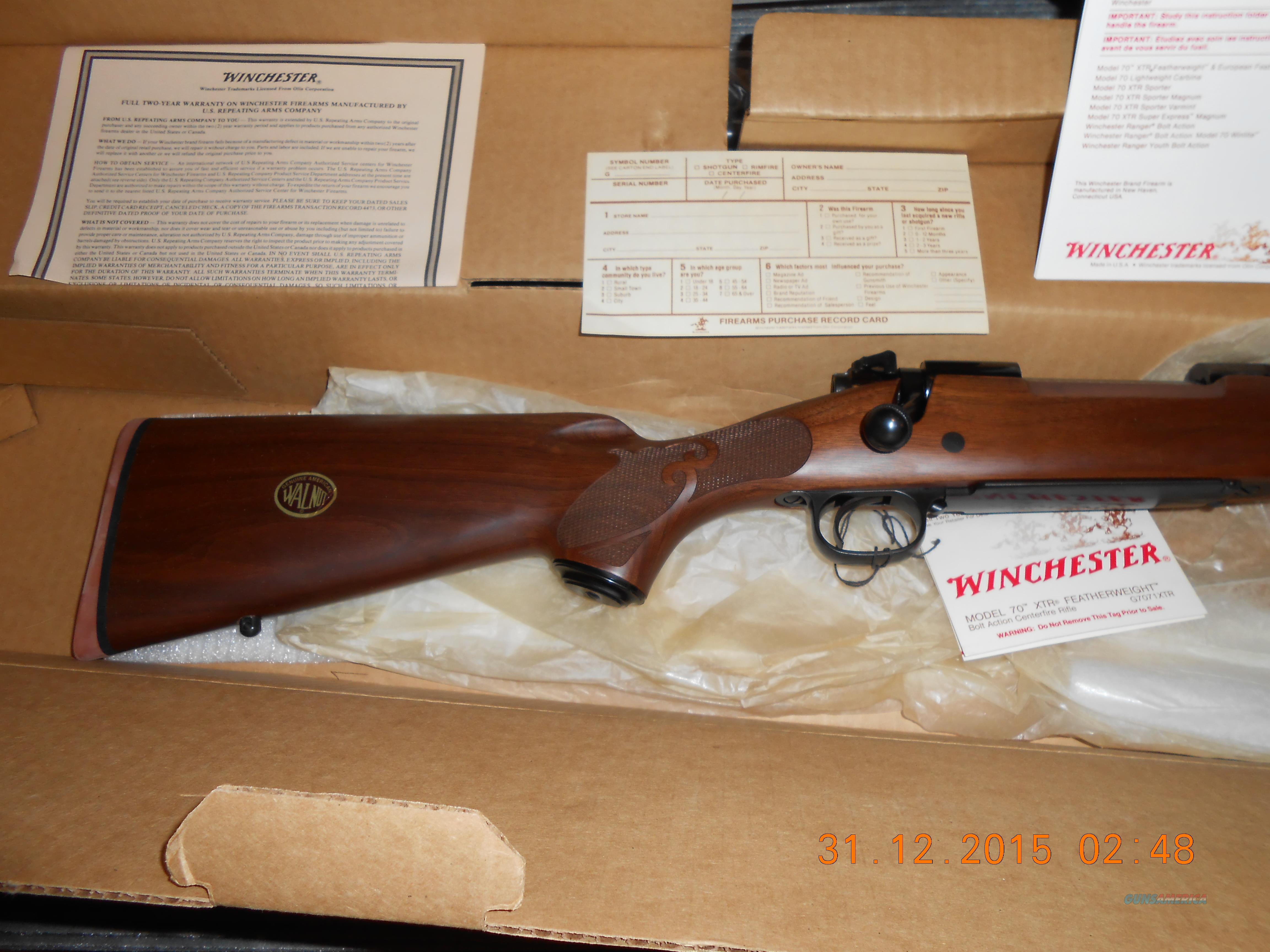 Vintage NOS Winchester 70 XTR'S FTHRWT  Guns > Rifles > Winchester Rifles - Modern Bolt/Auto/Single > Model 70 > Post-64