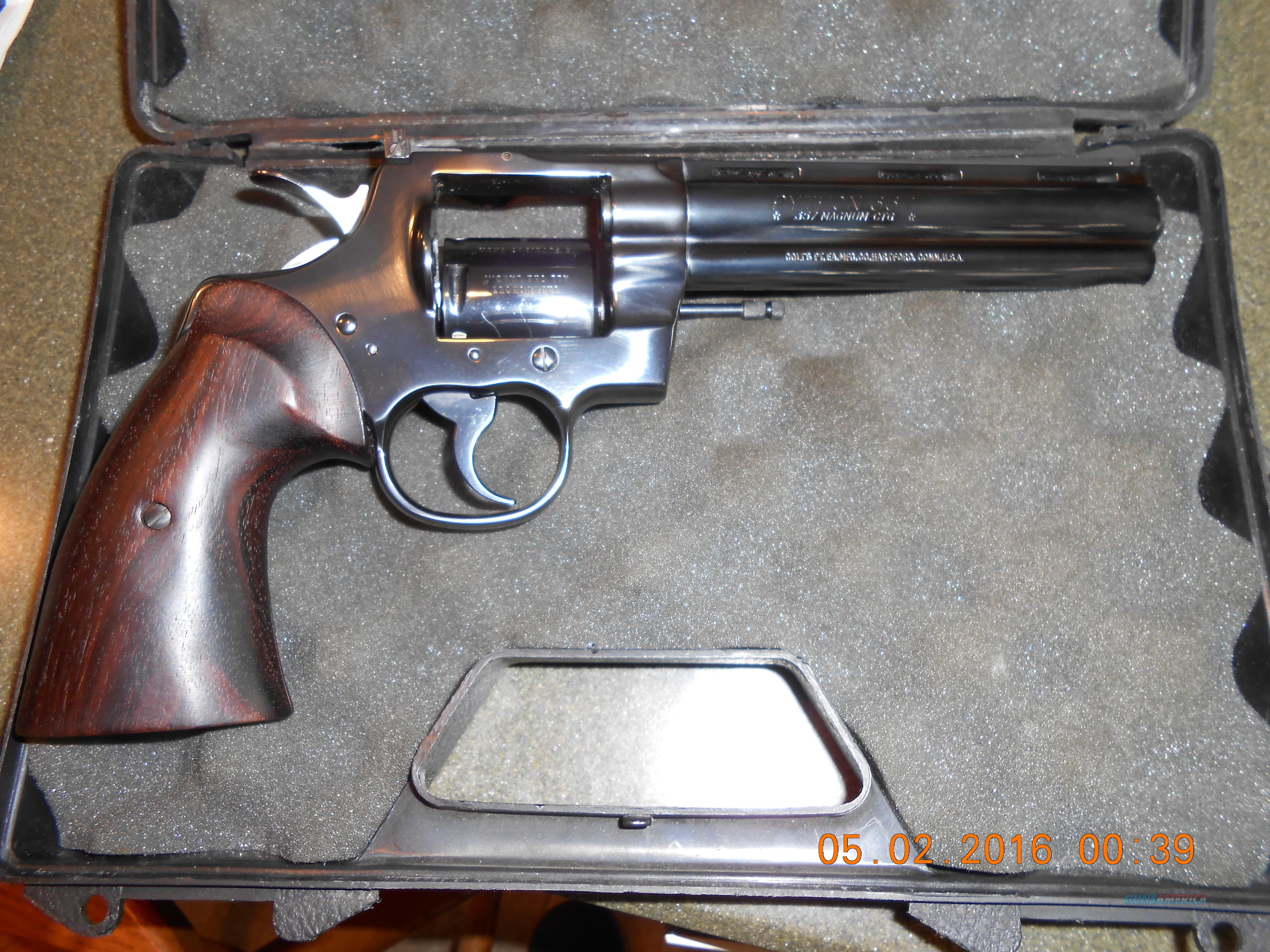 "Colt Python Unfired 6""  Guns > Pistols > Colt Double Action Revolvers- Modern"