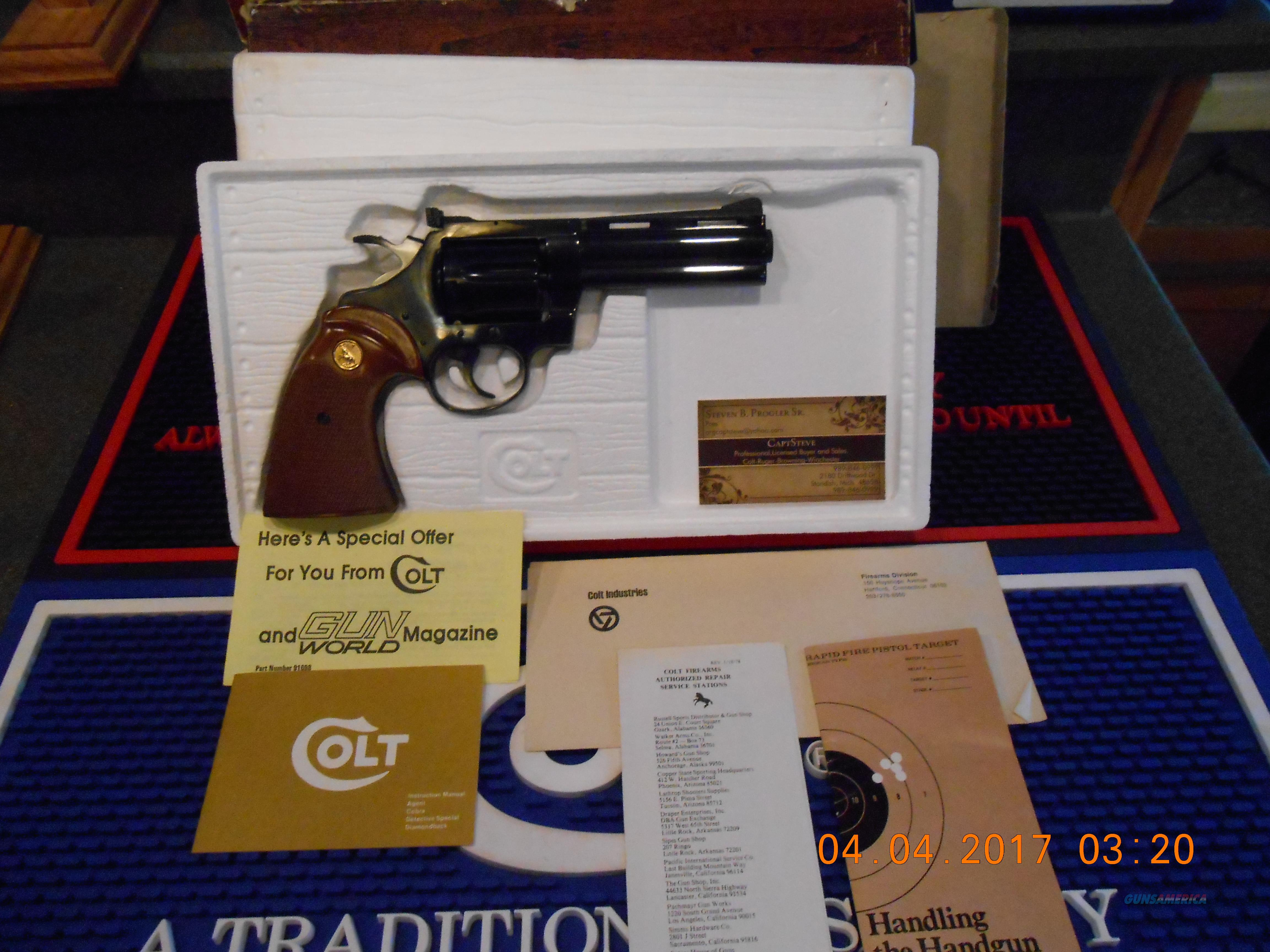 "4"" Colt Diamondback Blue 38 Special Complete Unfired  Guns > Pistols > Colt Double Action Revolvers- Modern"