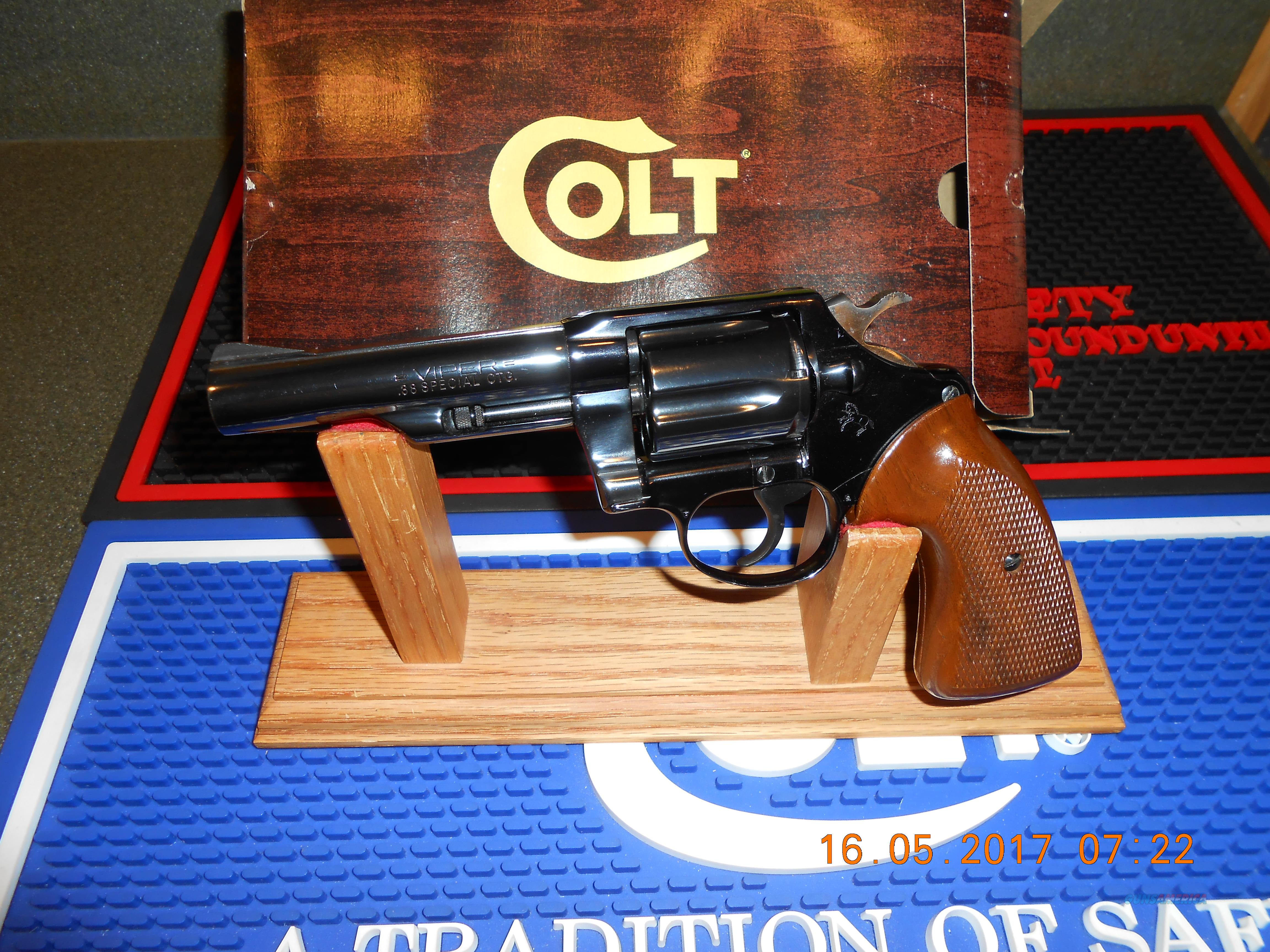 Colt Viper Blue Unfired  Guns > Pistols > Colt Double Action Revolvers- Modern
