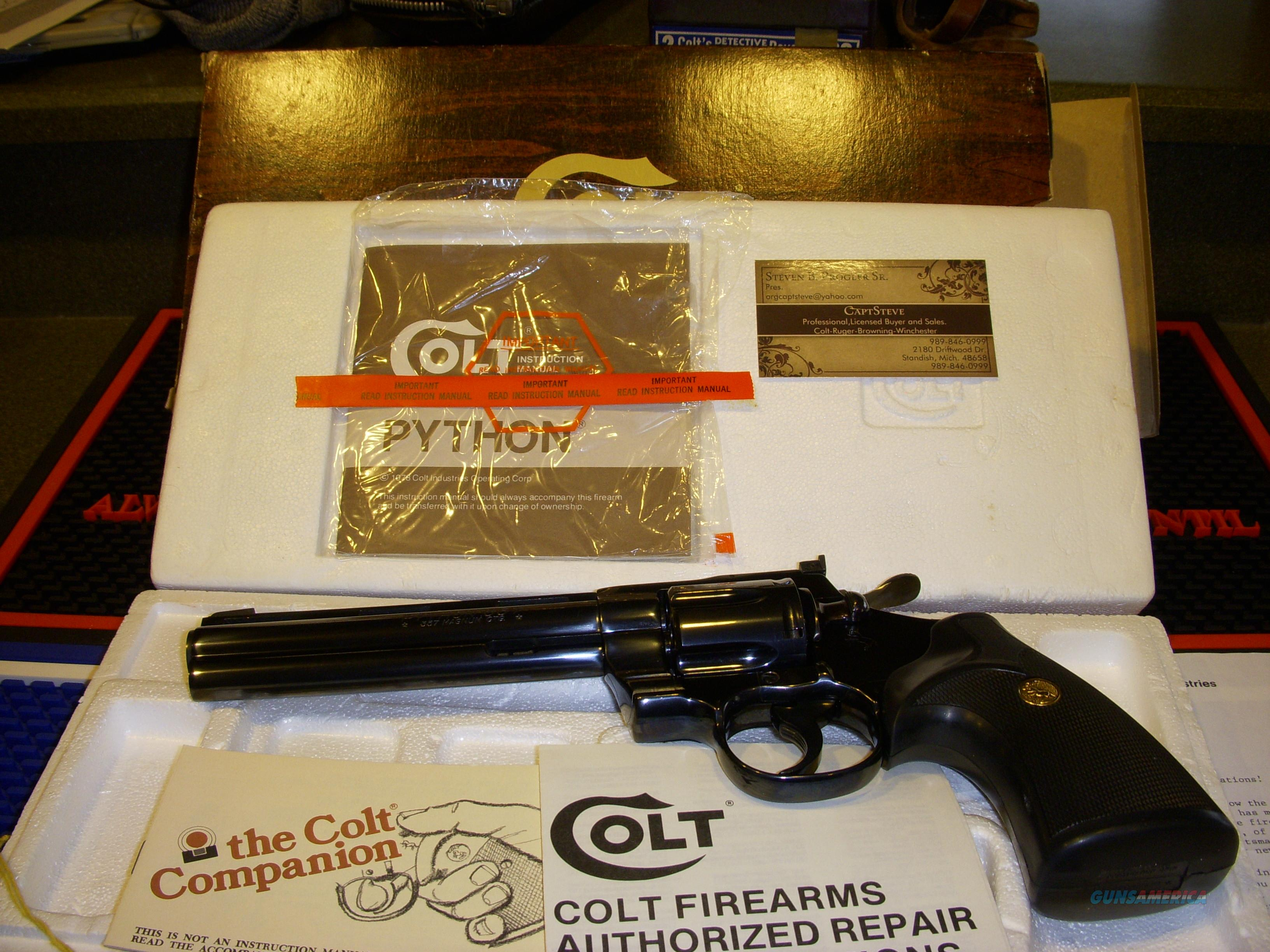 Colt Python Custom Shop Unfired Complete  Guns > Pistols > Colt Double Action Revolvers- Modern