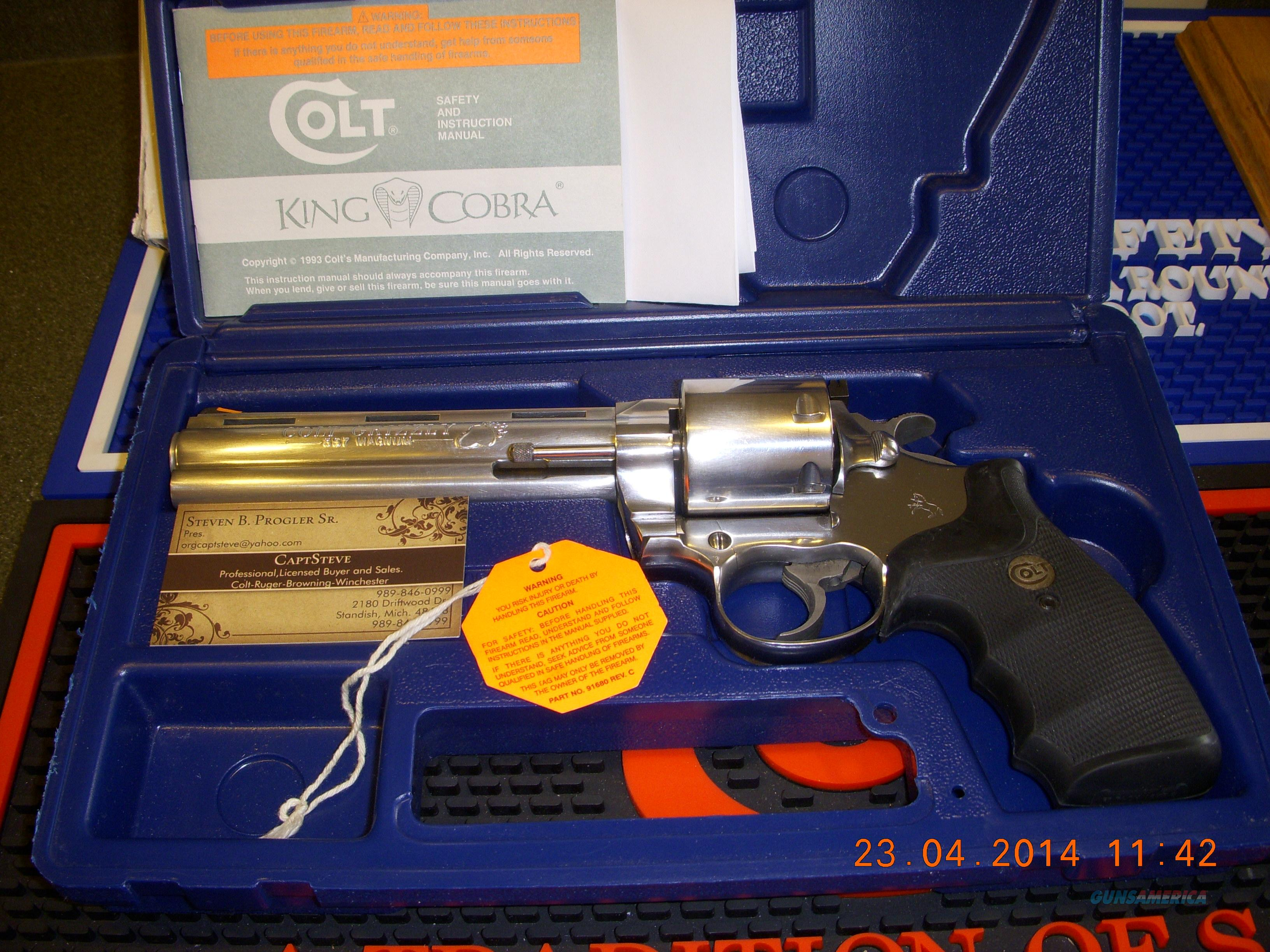 Colt Grizzly Complete As New, Complete  Guns > Pistols > Colt Double Action Revolvers- Modern