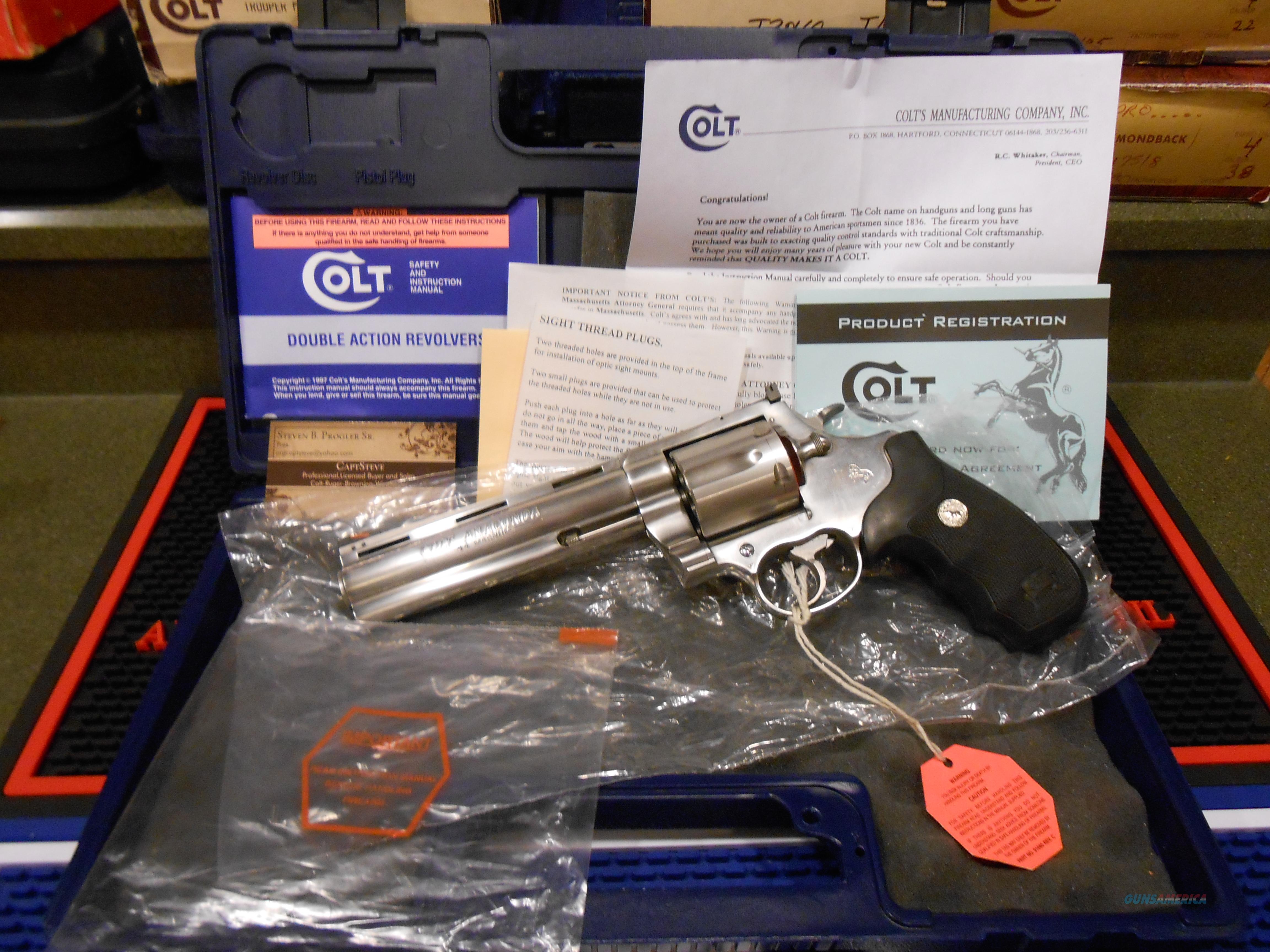 "Colt Anaconda DT 6"" Unfired Complete  Guns > Pistols > Colt Double Action Revolvers- Modern"