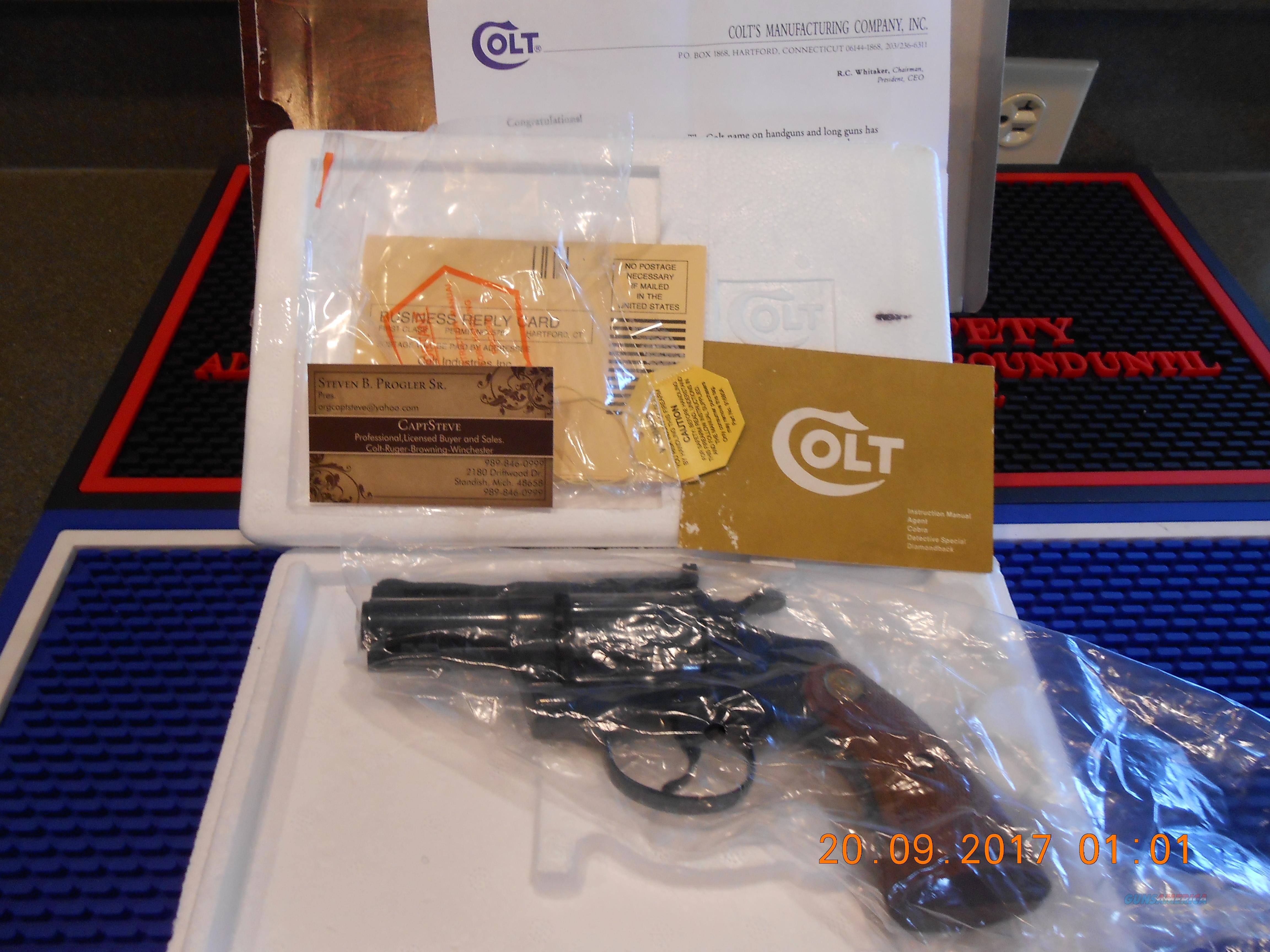 "Colt 2 1/2"" Diamondback 38 Special Unfired  Guns > Pistols > Colt Double Action Revolvers- Modern"