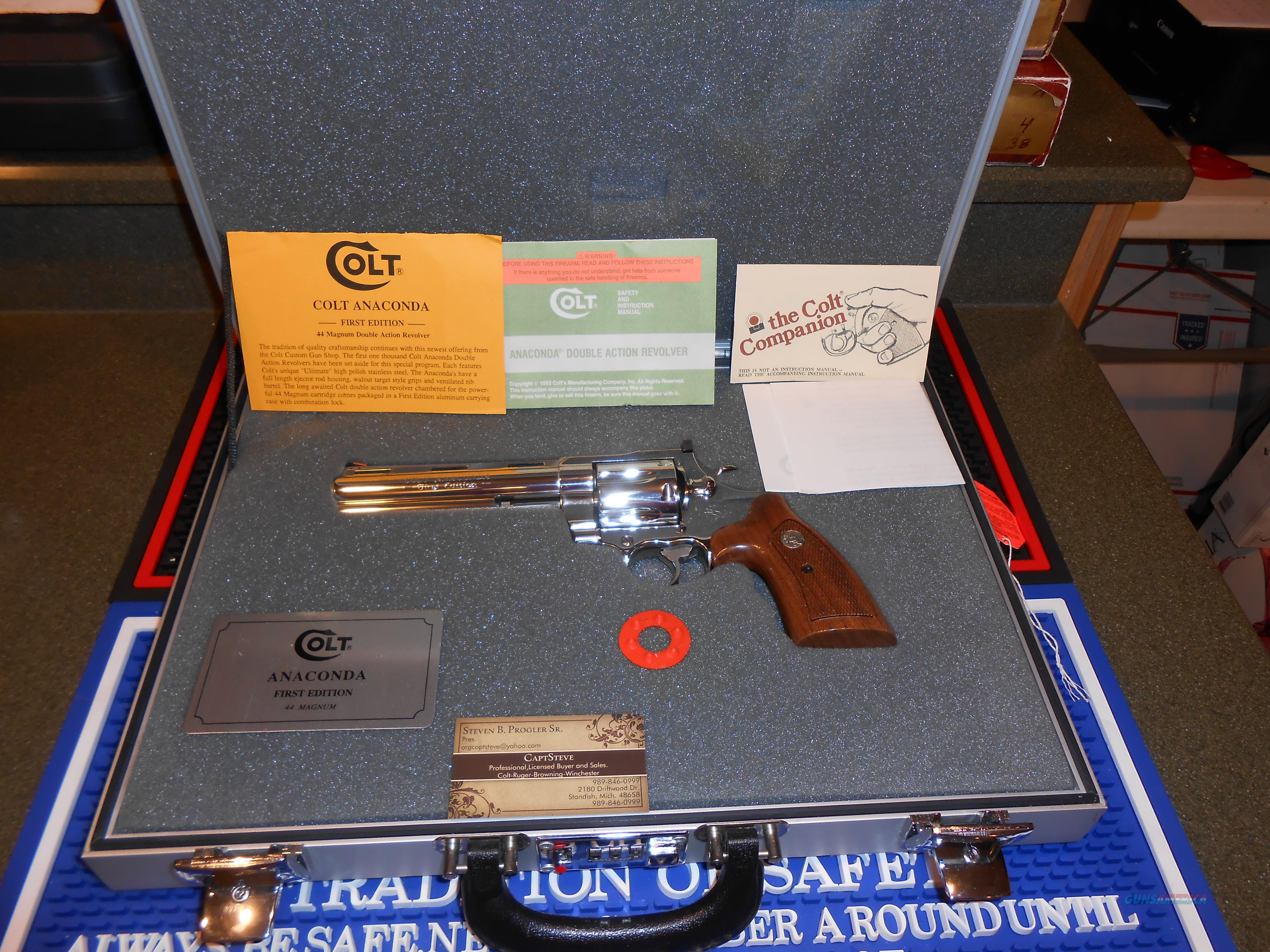 Colt 1st Edition Anaconda  1 of 1000 Nice  Guns > Pistols > Colt Double Action Revolvers- Modern